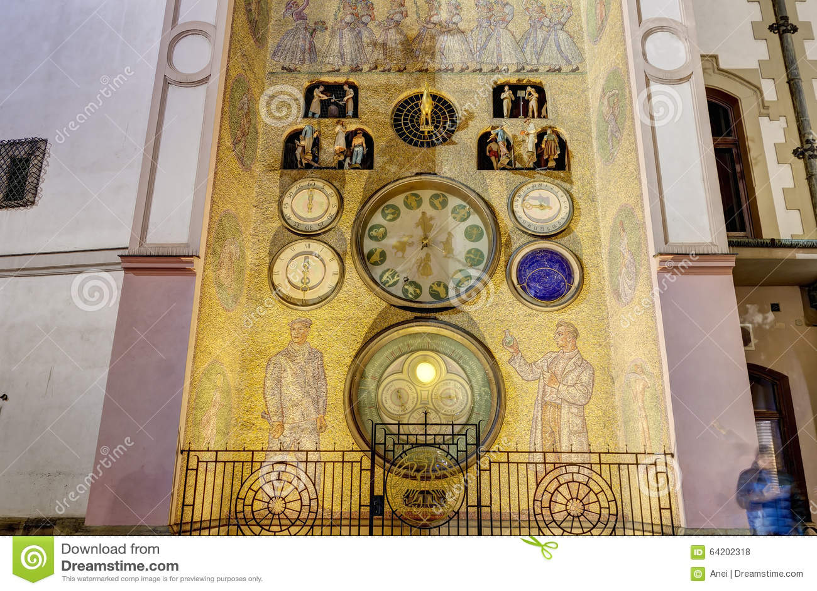Foto del reloj astronómico de Olomouc, República Checa de HDR