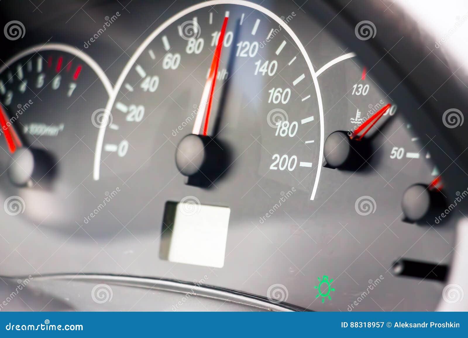 Foto des Geschwindigkeitsmessers