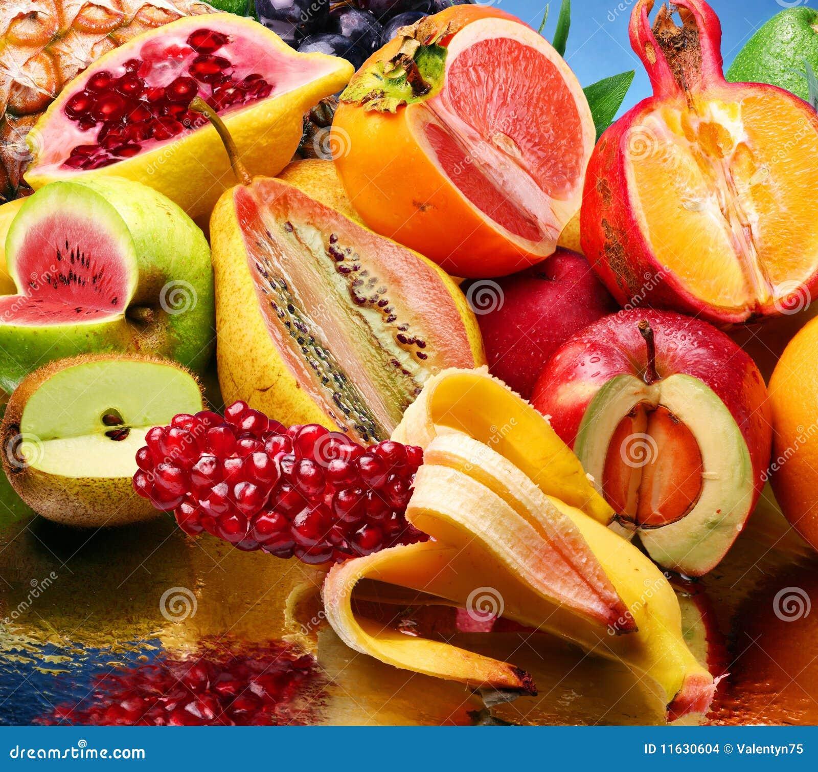 Foto di concetto della frutta modificata