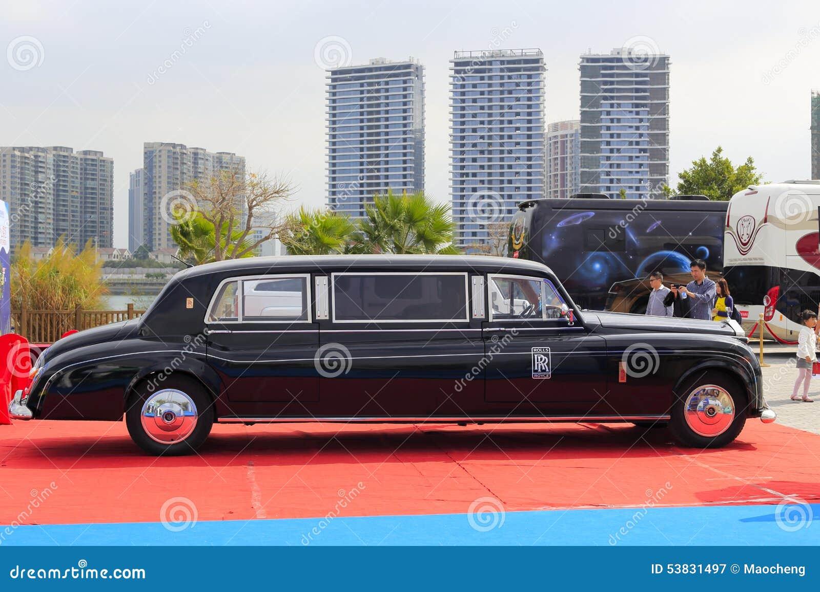 Foto do lado do carro de Rolls royce