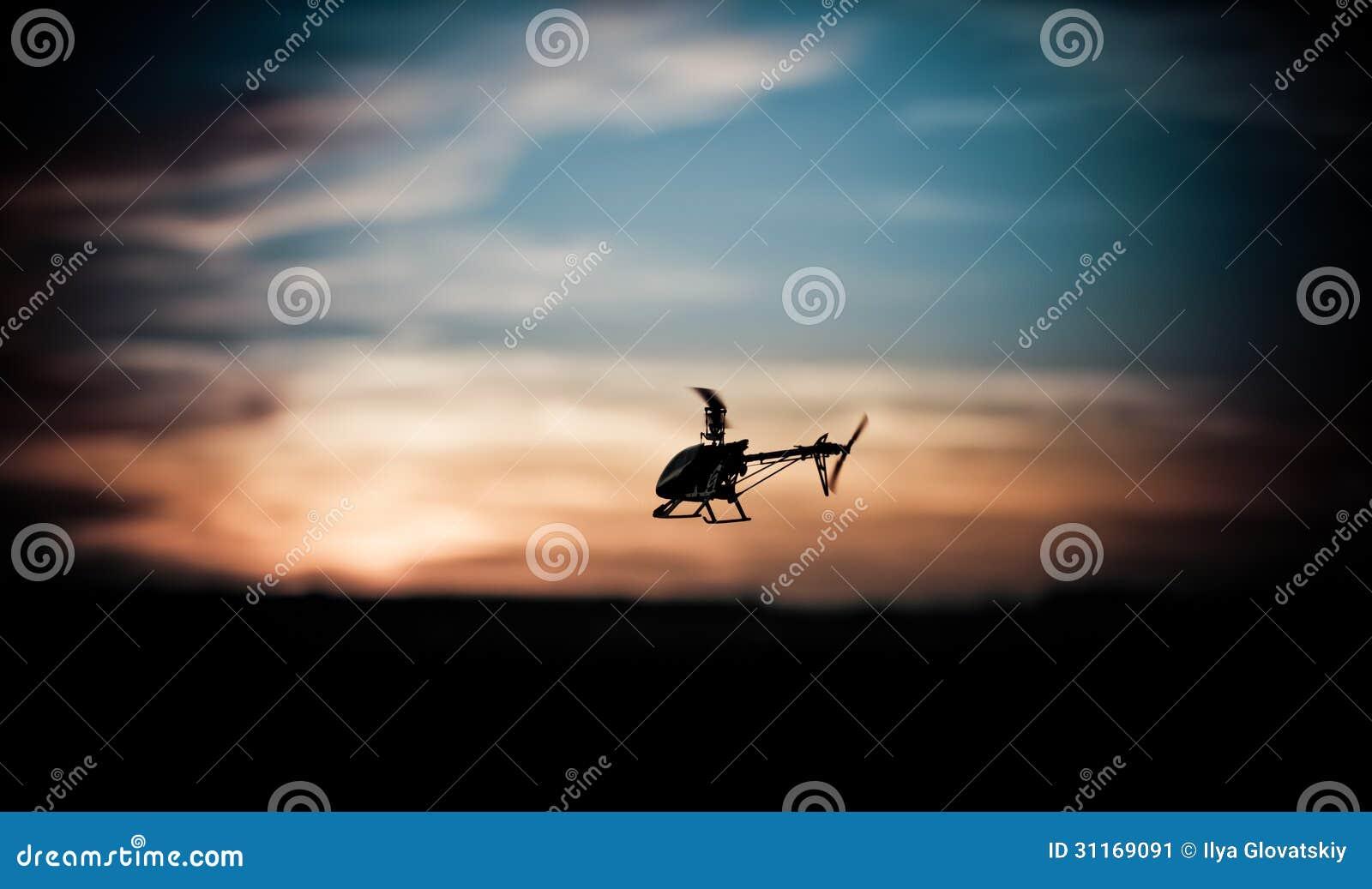 Foto eines RC-Hubschraubers