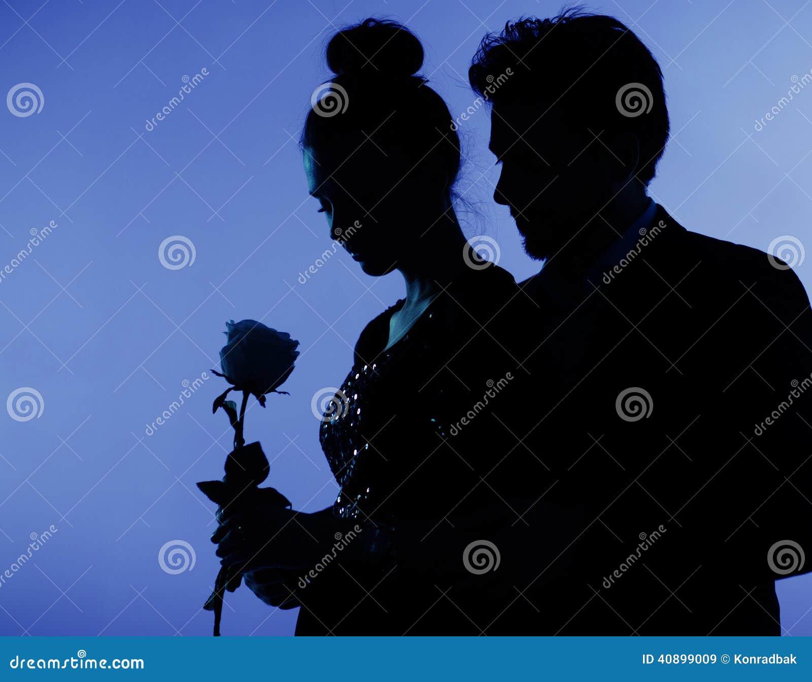 Foto fina de los pares en amor