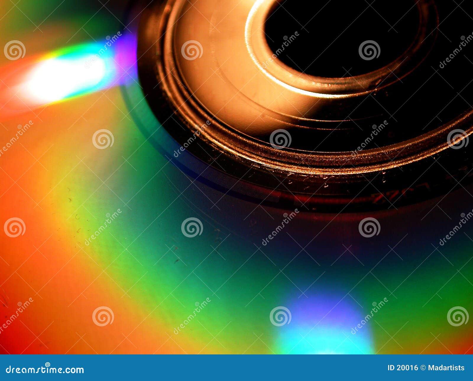 Foto macra del fondo del resplandor CD