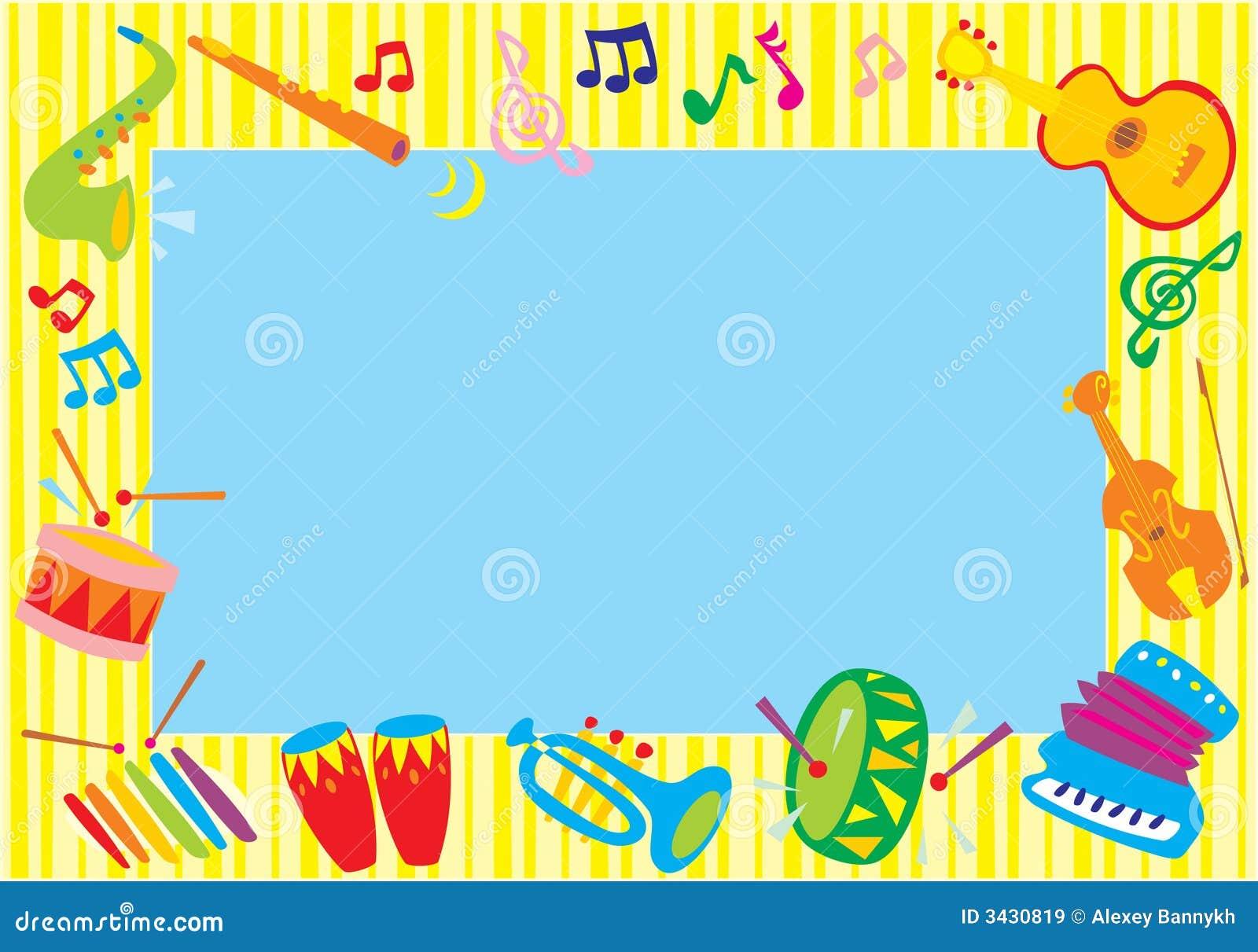 Foto-marco musical ilustración del vector. Ilustración de caricature ...