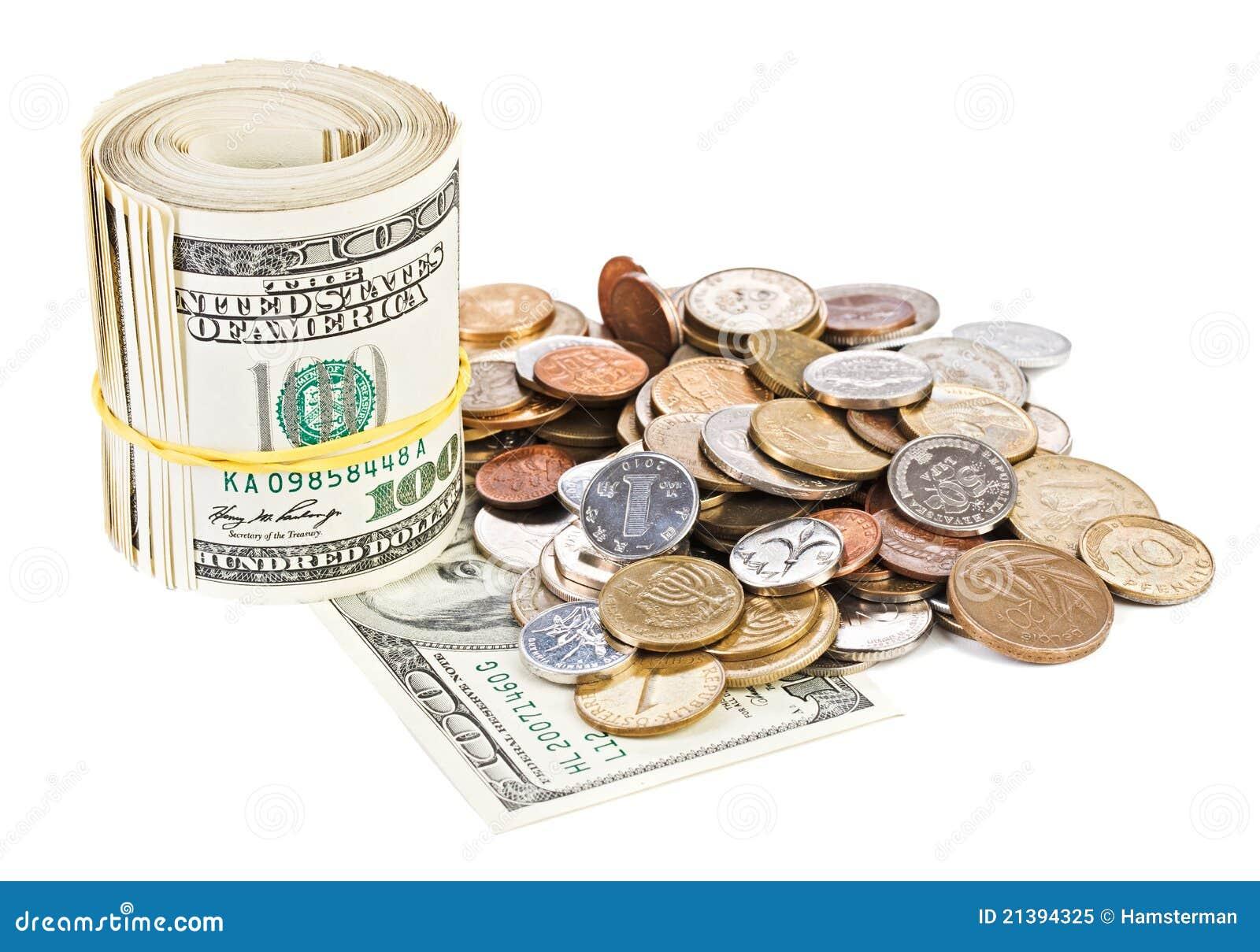 Foto monetaria del concepto del dinero en circulación del dólar de los E.E.U.U.