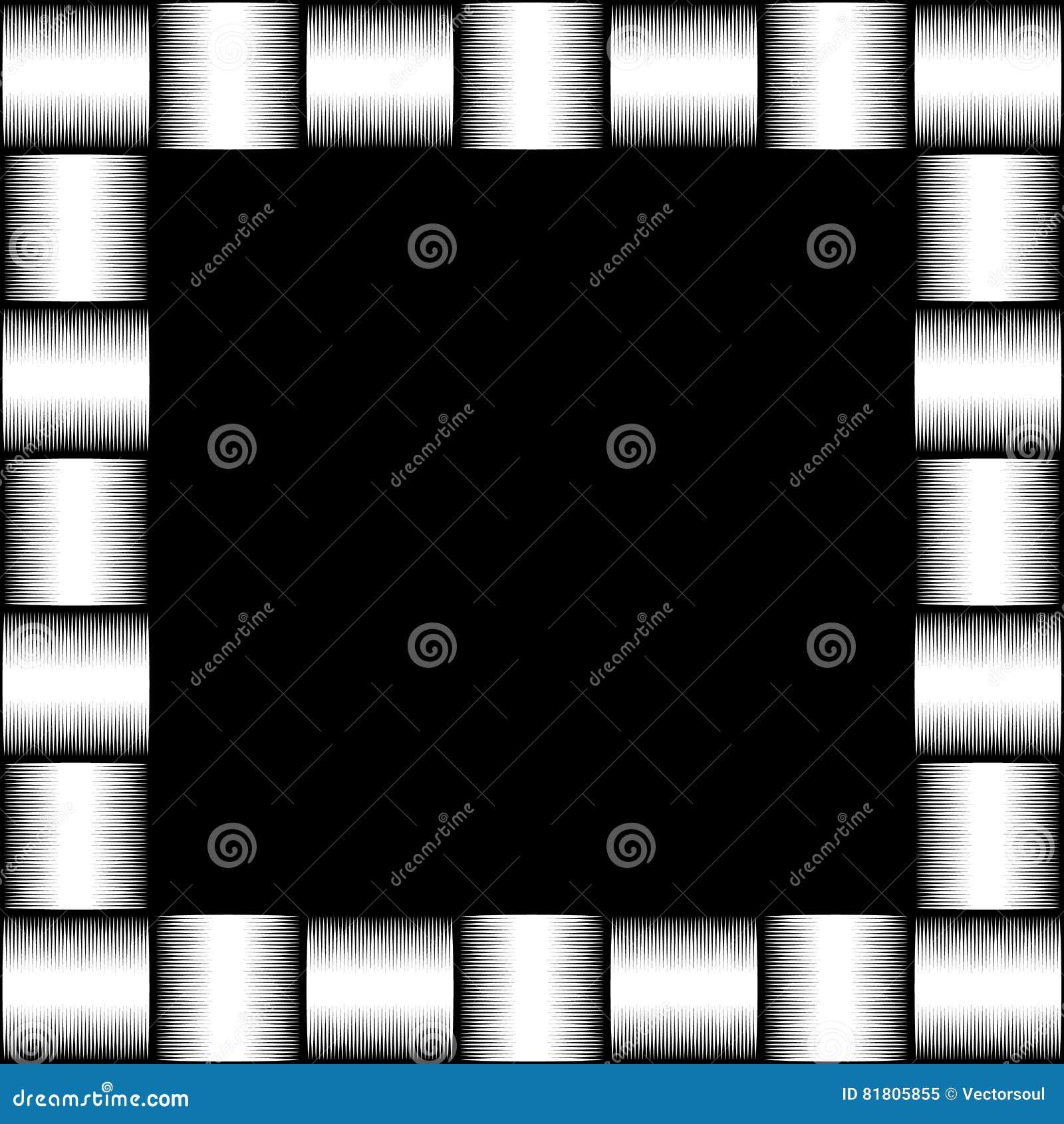 Foto quadrada do formato, moldura para retrato com o mosaico das linhas