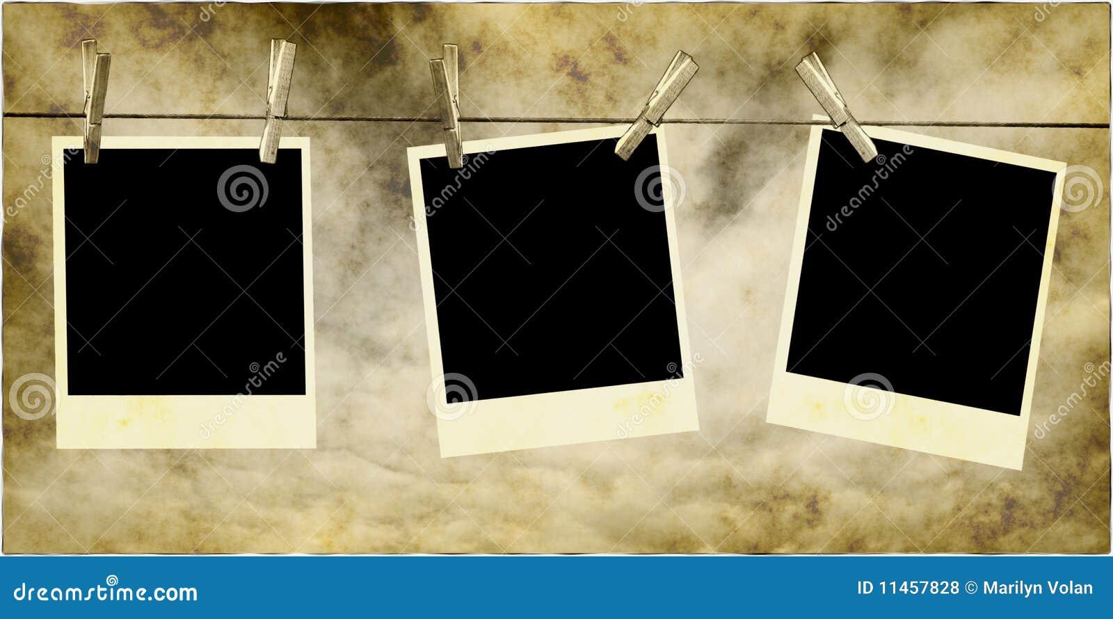 Foto s die op Kabel hangen