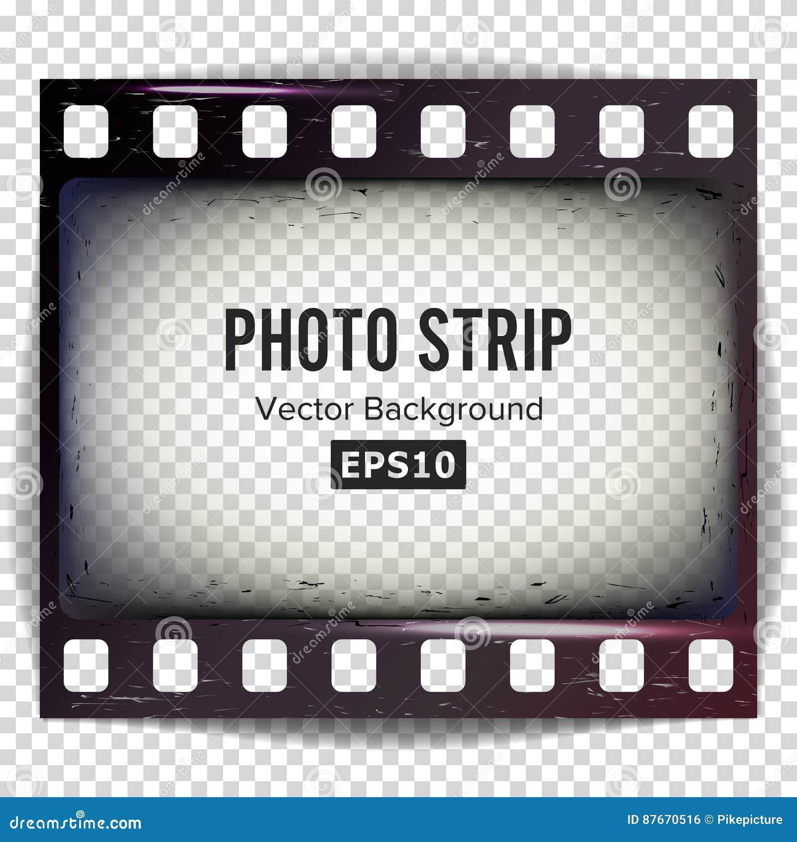 Foto-Streifen-Vektor Realistischer Leerer Rahmen-Streifen-freier ...