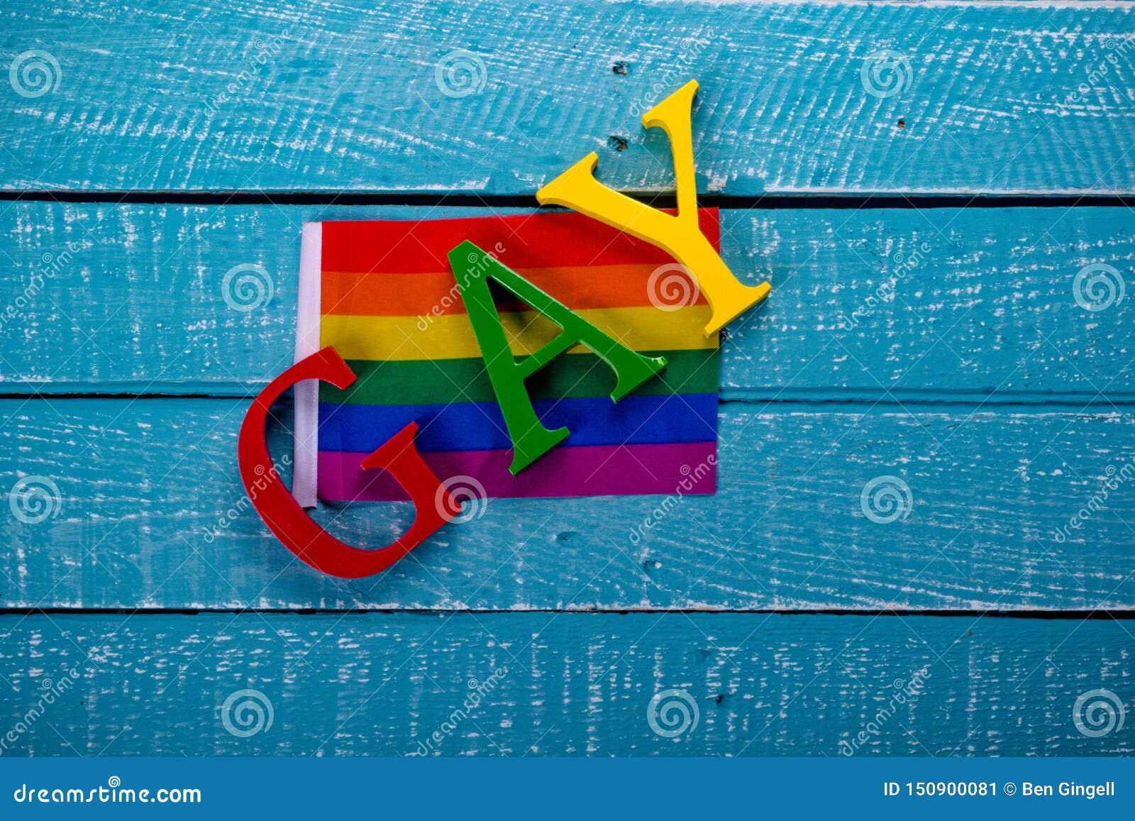 Foto superior da pena do conceito de Gay Pride