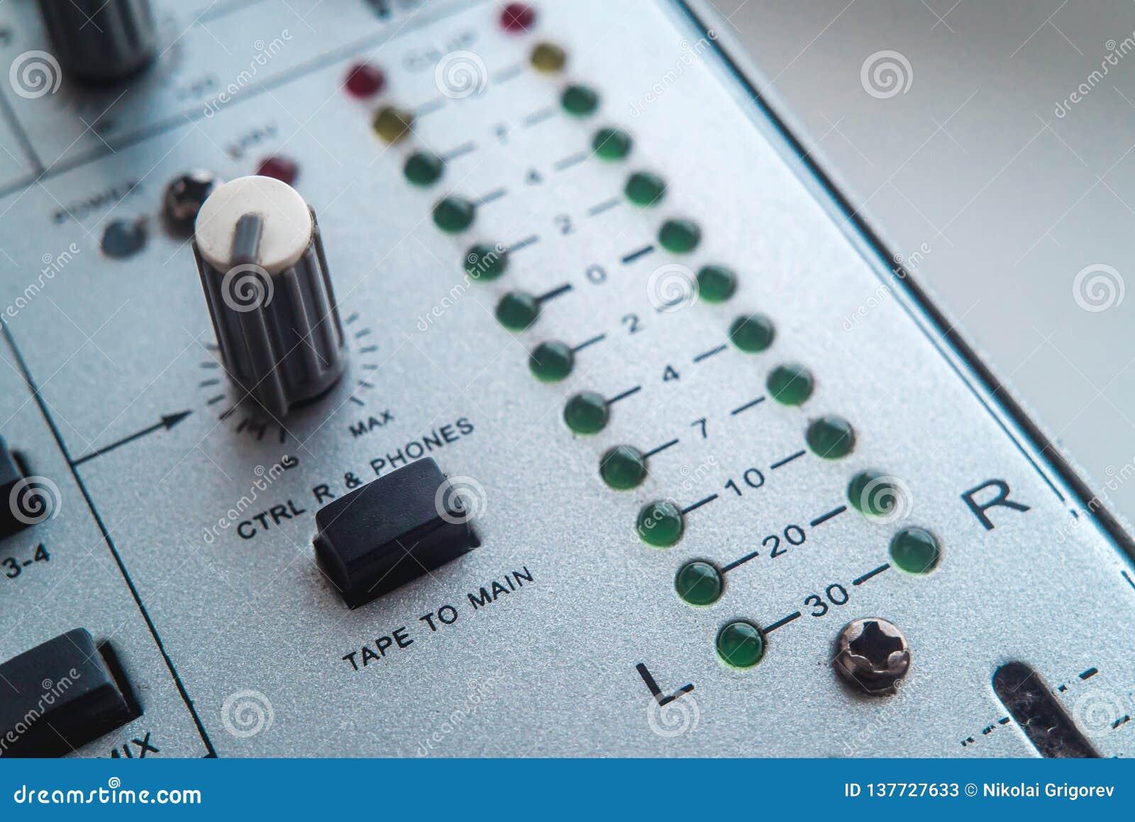 Foto van de analoge audiomixer