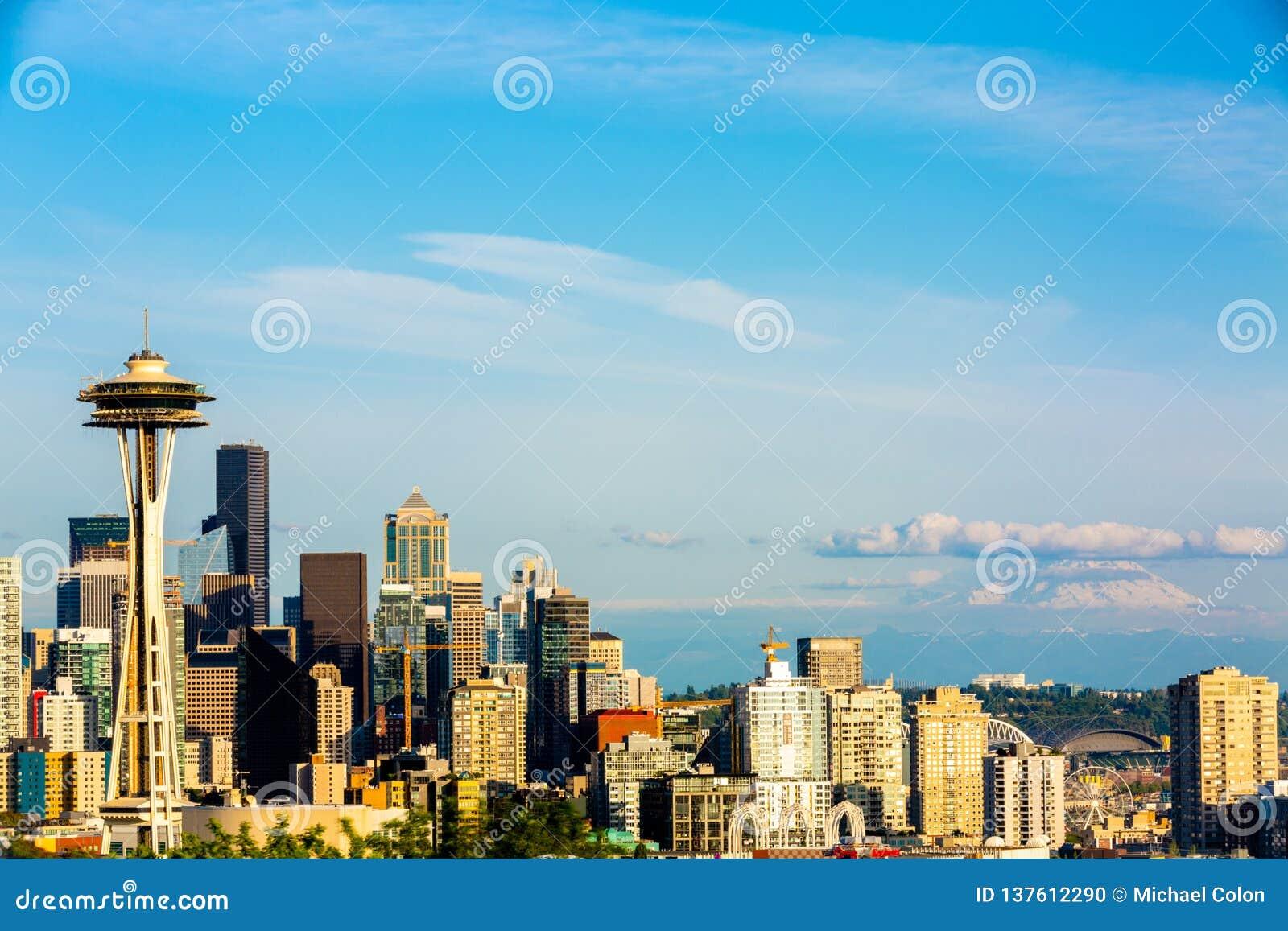 Foto von im Stadtzentrum gelegenem Seattle von Kerry Park Seattle