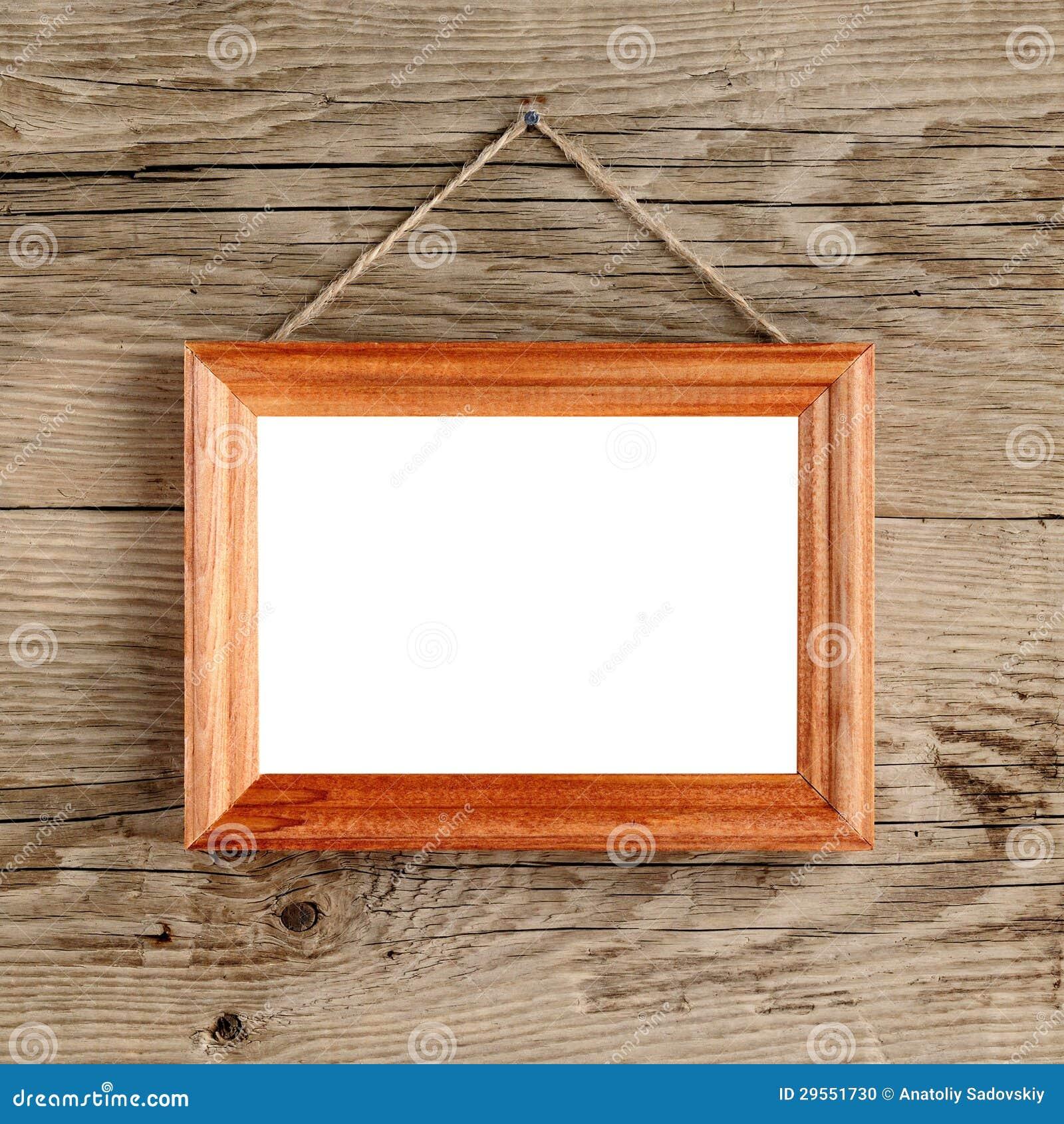 Fotoet inramar att hänga på väggen