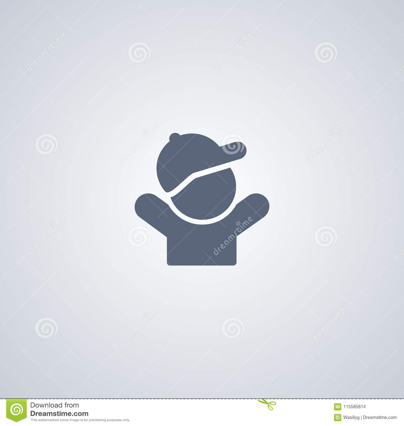 Fotofunktionslägebarn, bästa plan symbol för vektor