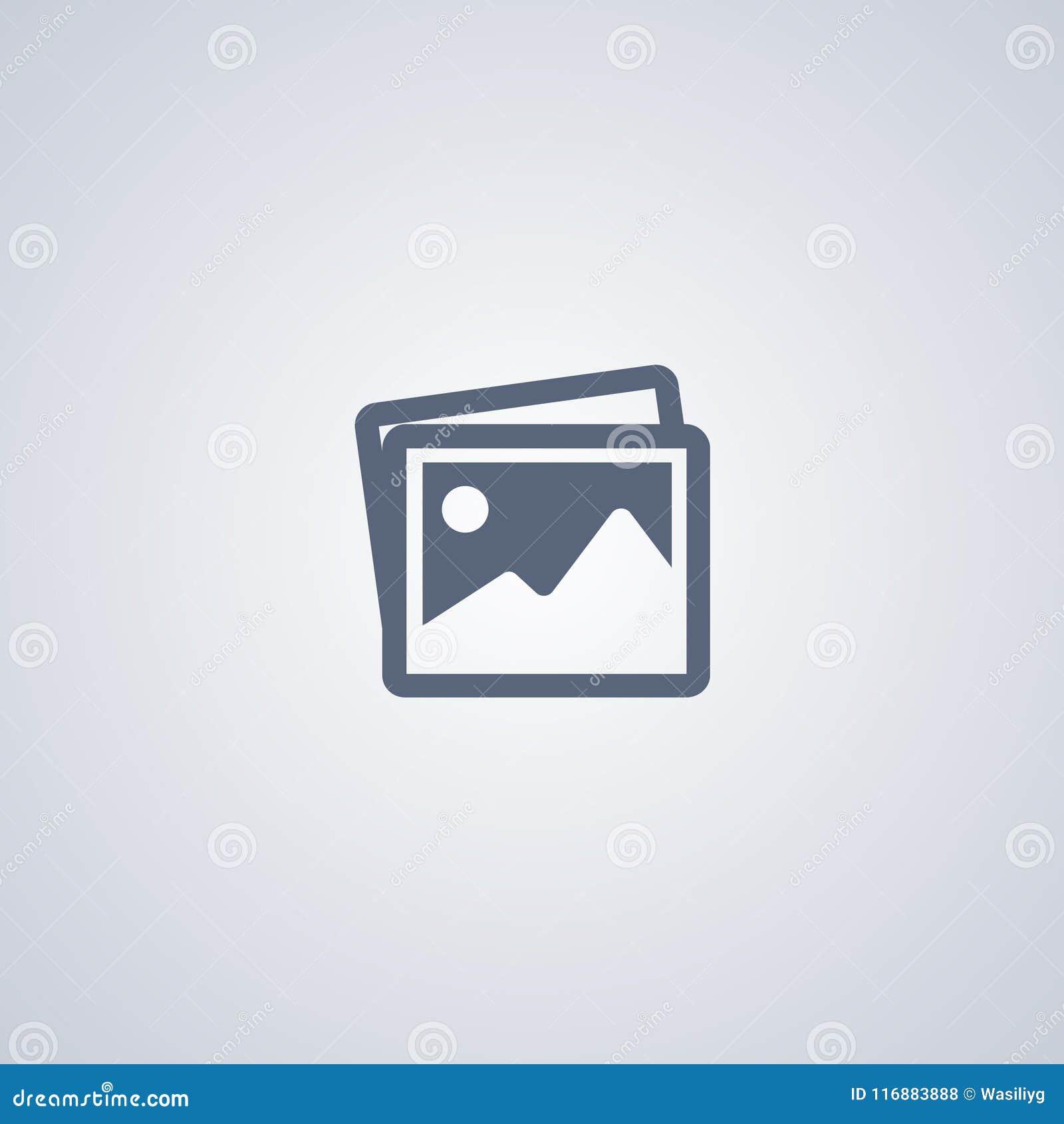 Fotogalerij, vector beste vlak pictogram