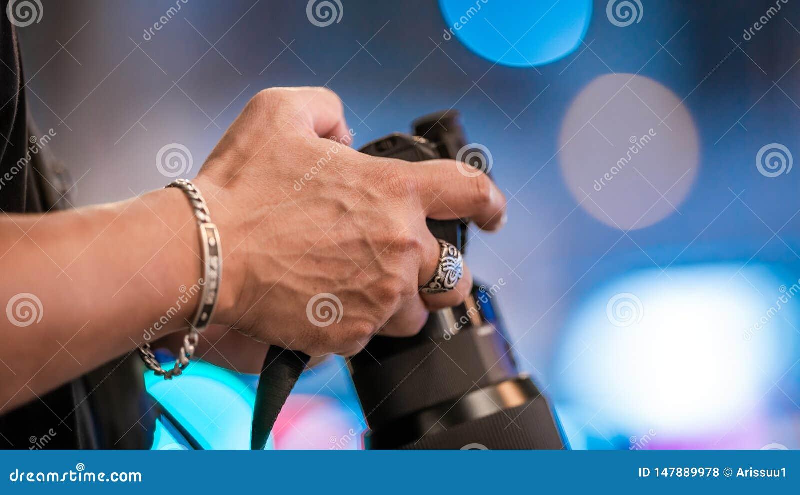 Fotograaf With een Digitale Camera