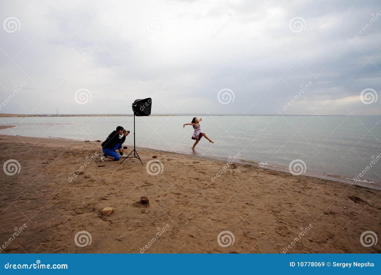 Fotograaf en model