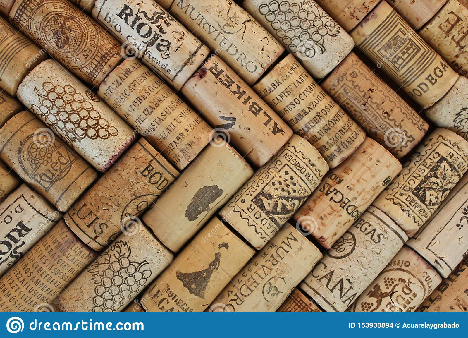 Fotografía del modelo de los corchos del vino