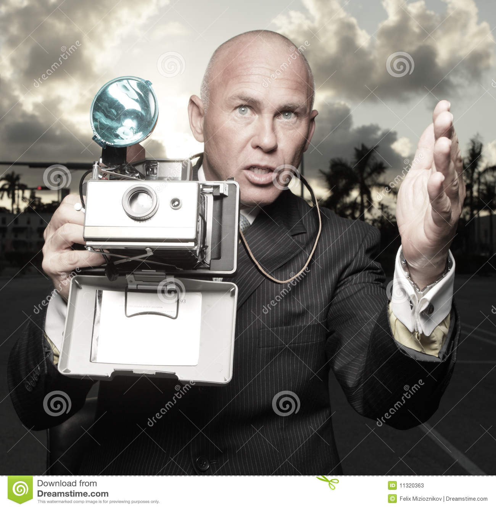 Fotograf in der Tätigkeit