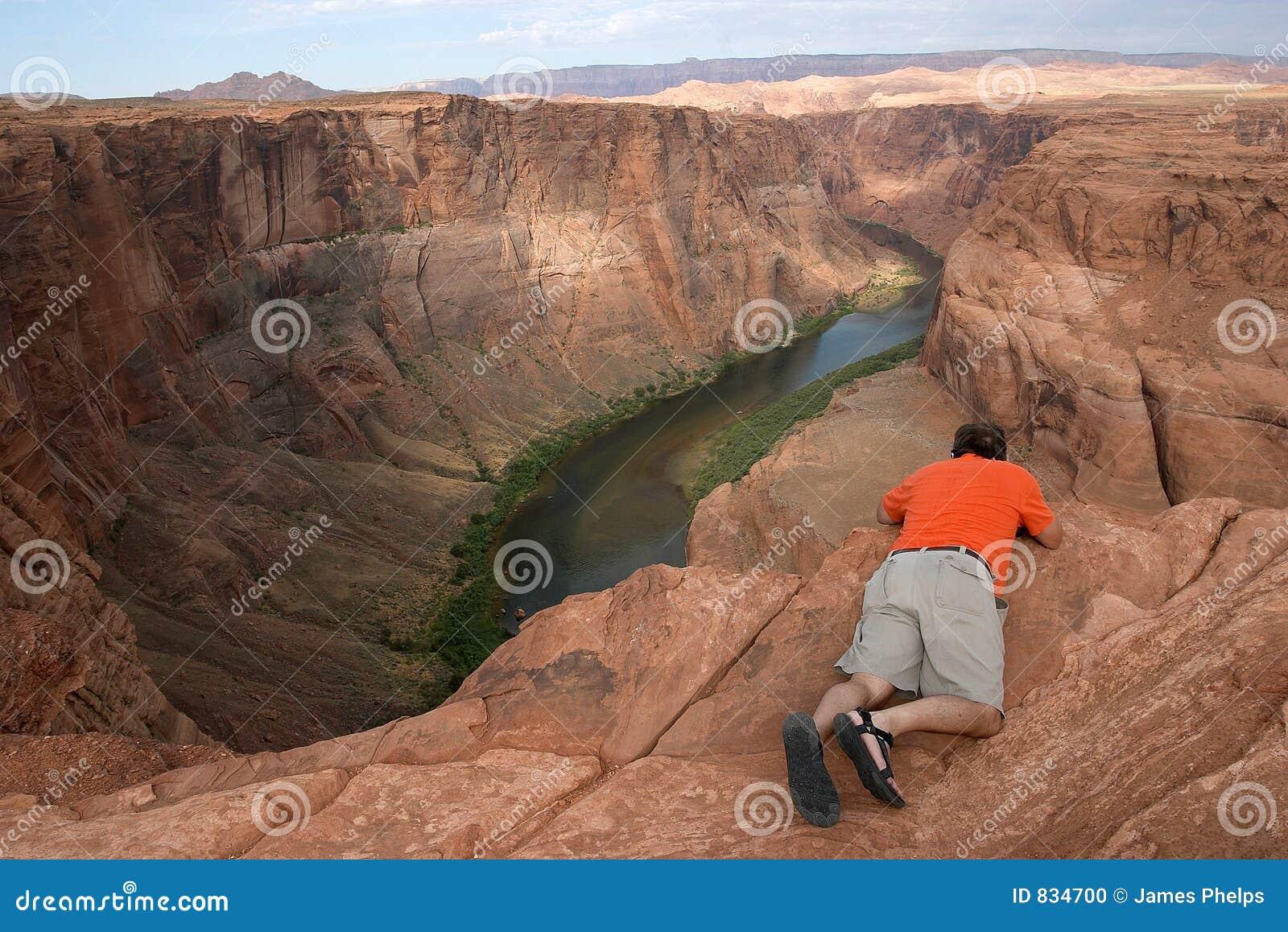 Fotograf kanion krawędzi