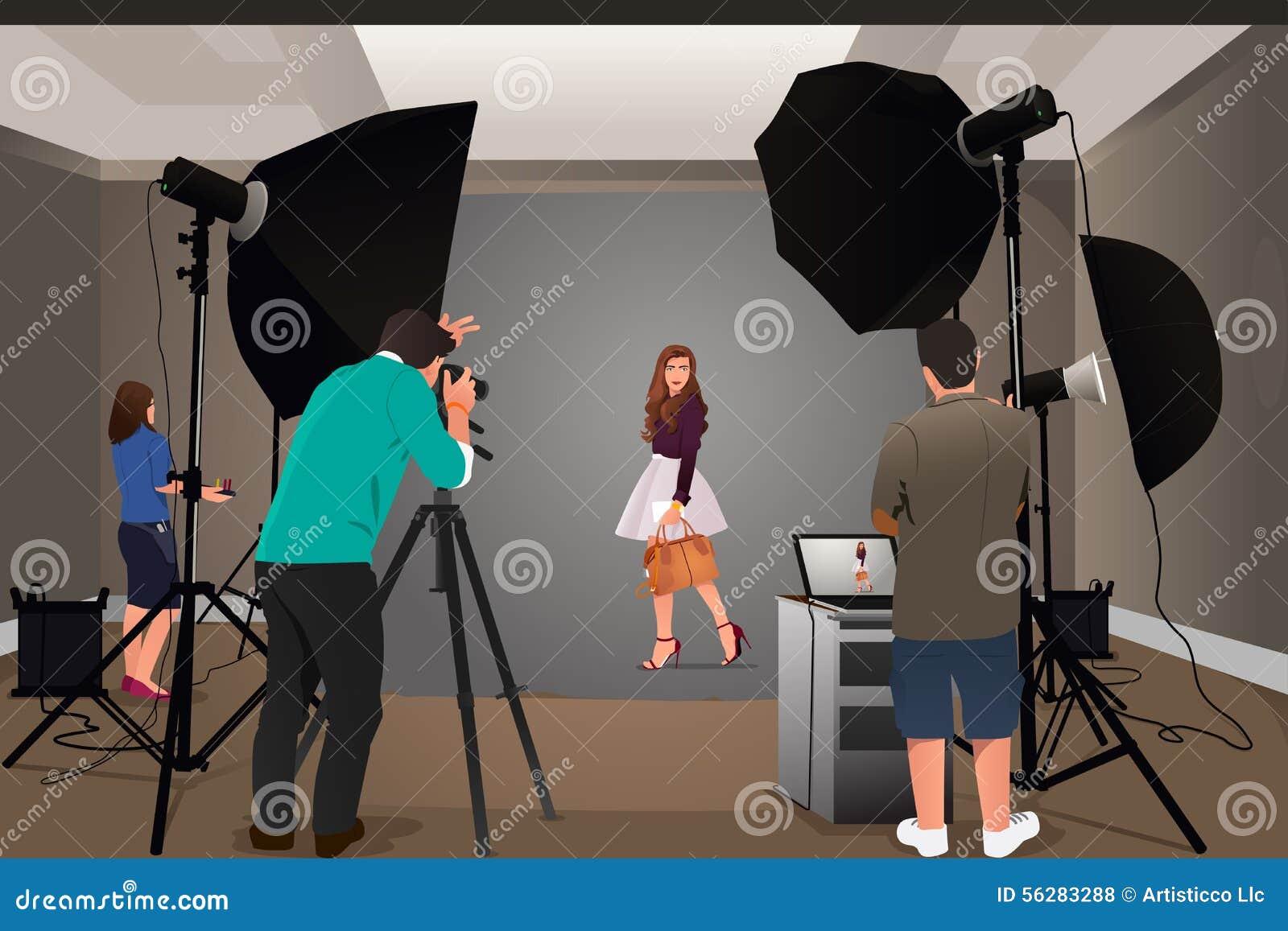 Fotograf strzelaniny model