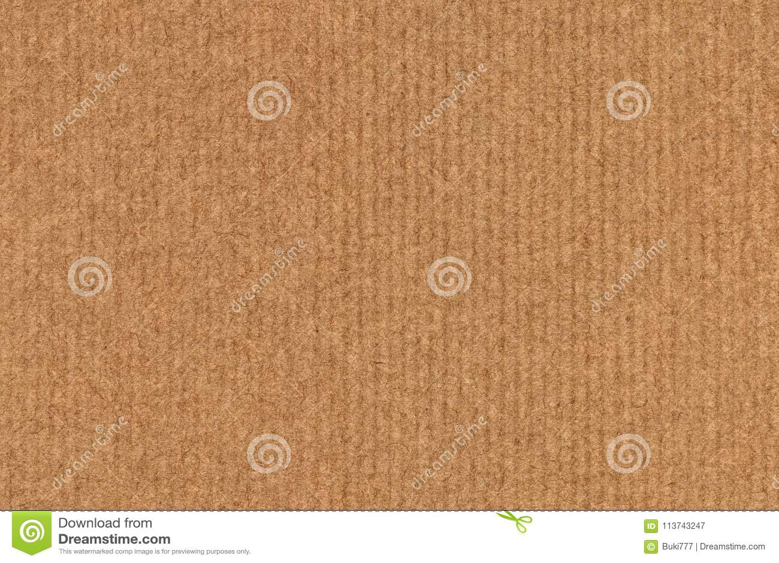 A fotografia de recicla a textura listrada do Grunge do papel de embalagem de Brown da grão grosseira