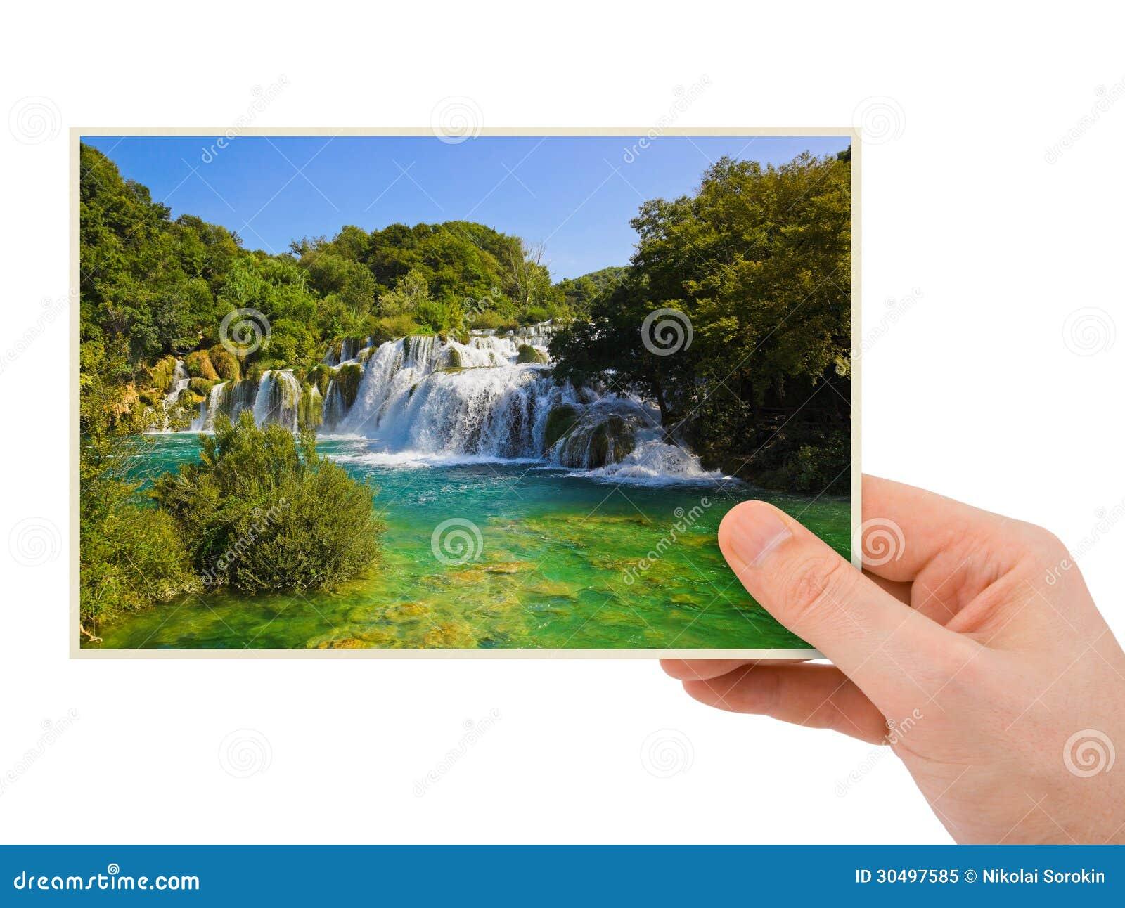 Fotografia della cascata di krka croazia a disposizione for Disposizione della casa libera