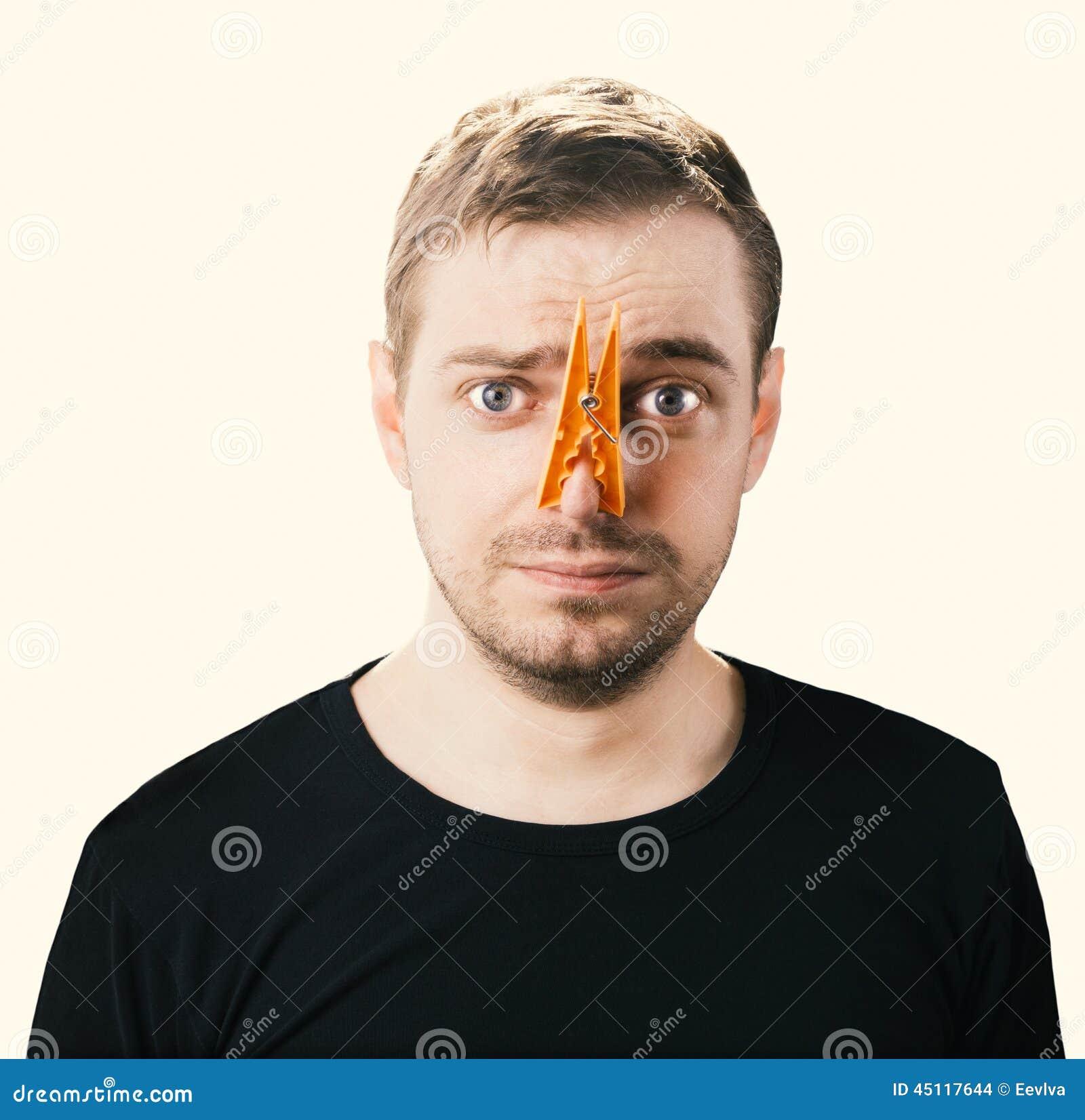 Fotografia di concetto del cattivo odore Immagine tonificata