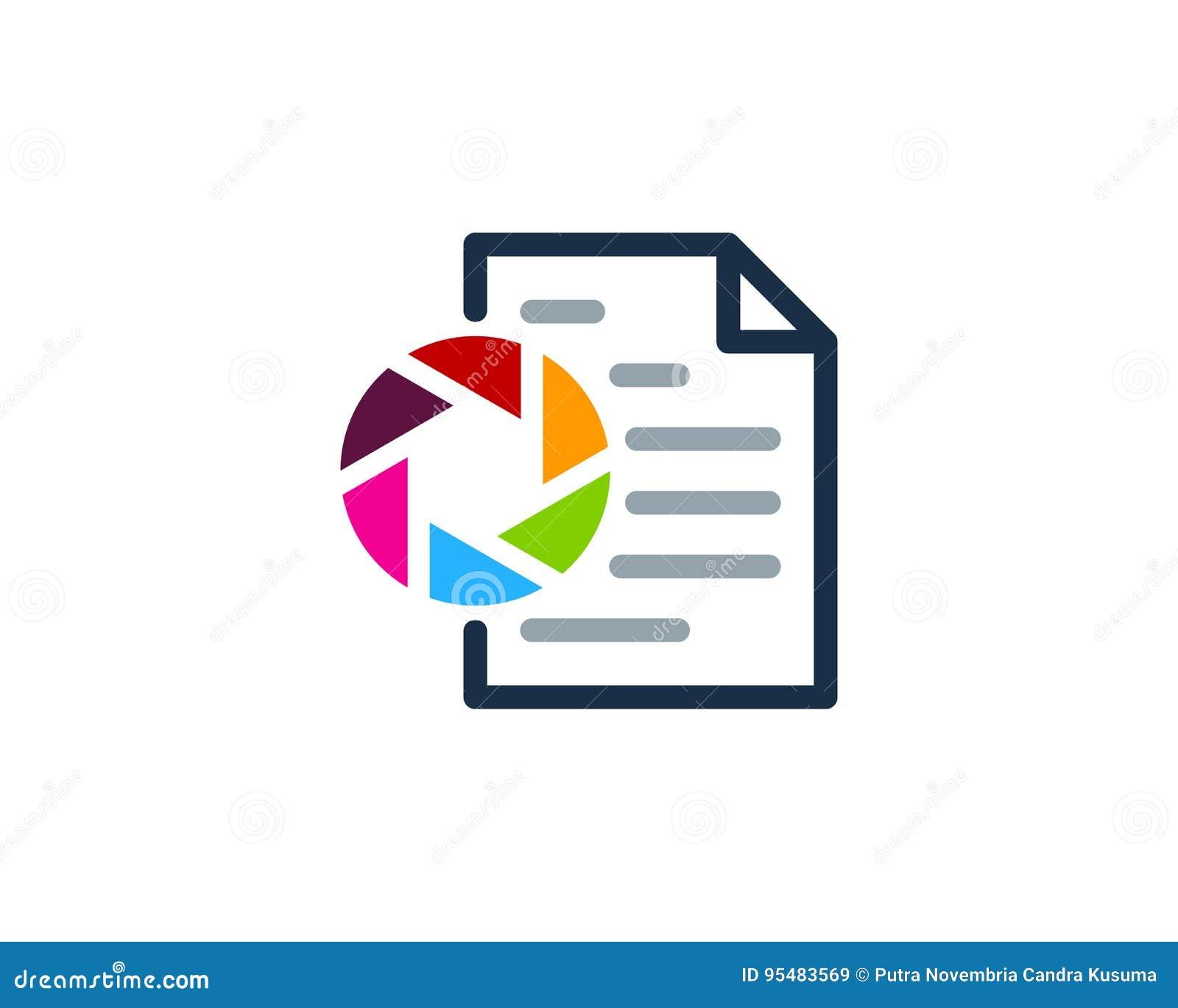 Fotografia dokumentu ikony loga projekta element
