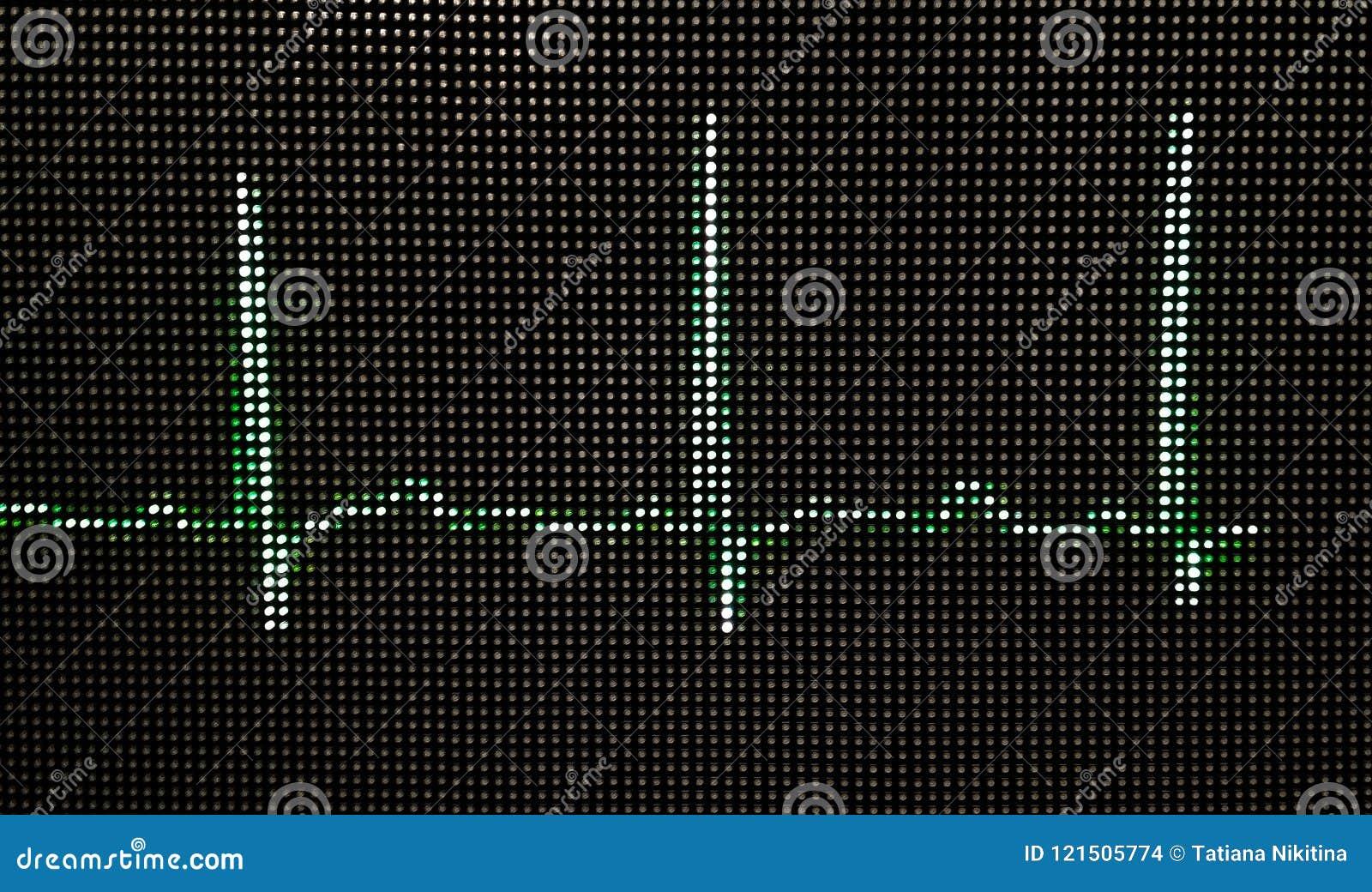 Fotografia Normalny ludzki elektrokardiogram na zakończenie monitorze