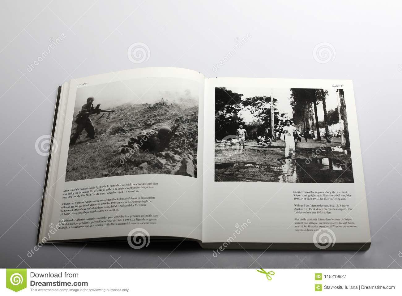 Fotografieboek door Nick Yapp, Franse infanterie in Indochina-Oorlog