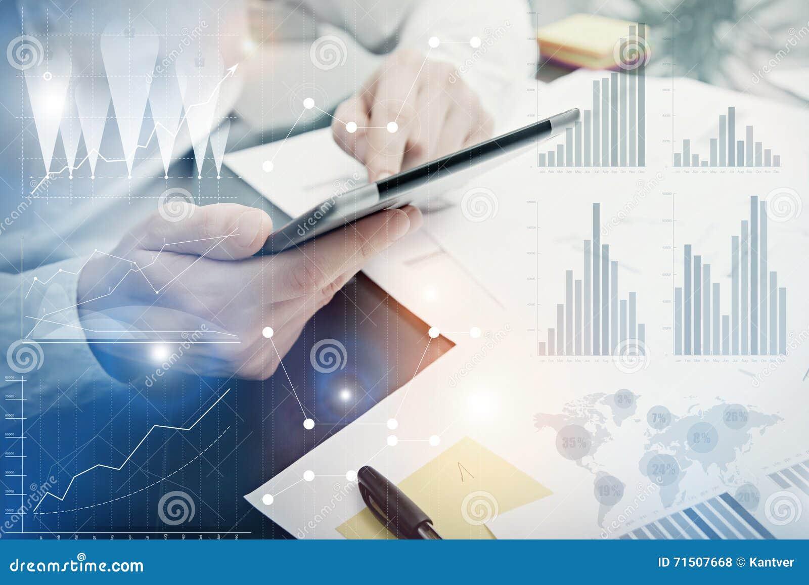 Fotografii analityka działania rynku Wydziałowe mapy Bankowa kierownika pracy proces Używa Cyfrowych przyrząda Graficzna ikona, N