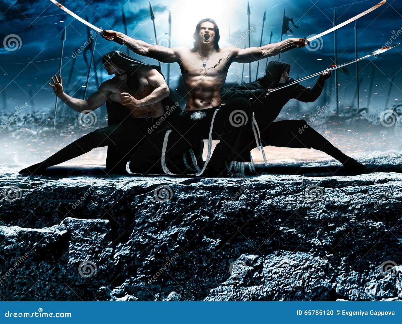 Fotografii fantazi bitwy ninja