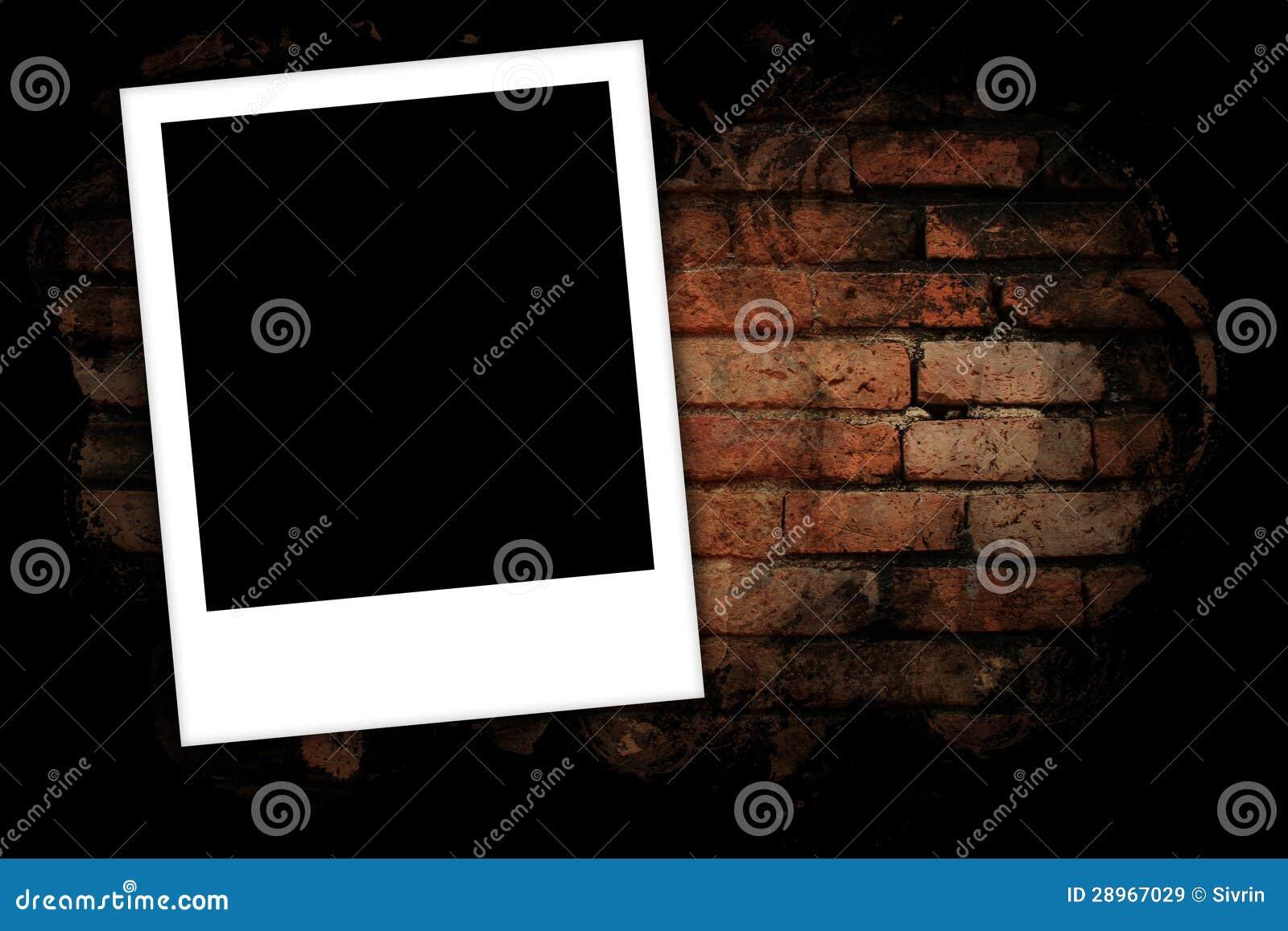 Fotografii ramy na ściana z cegieł