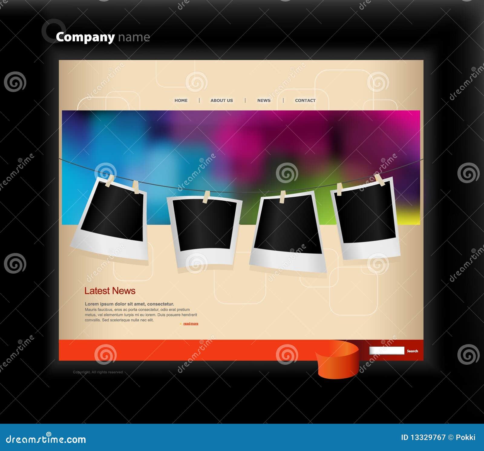 Fotografii szablonu strona internetowa