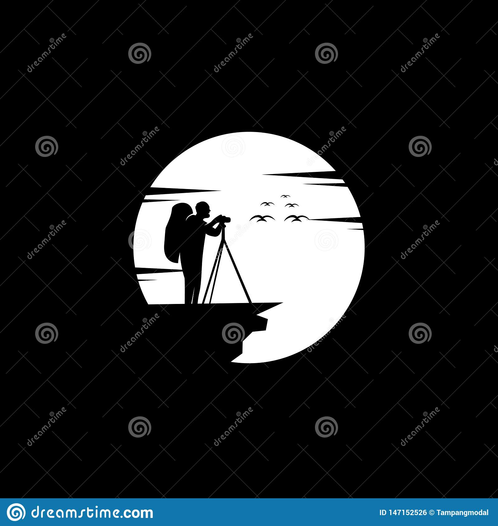 Fotografilogodesign, vektor, illustration