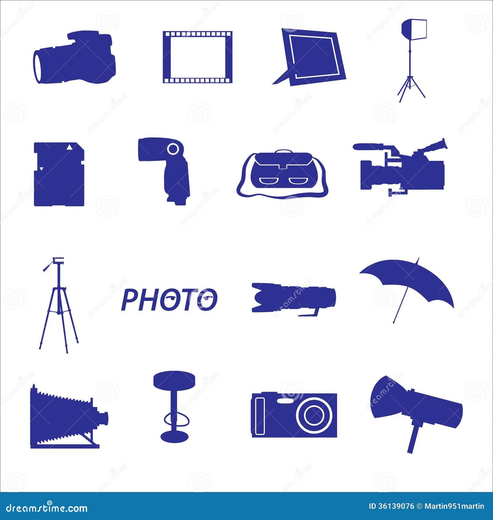 Fotografisch pictogram vastgestelde eps10