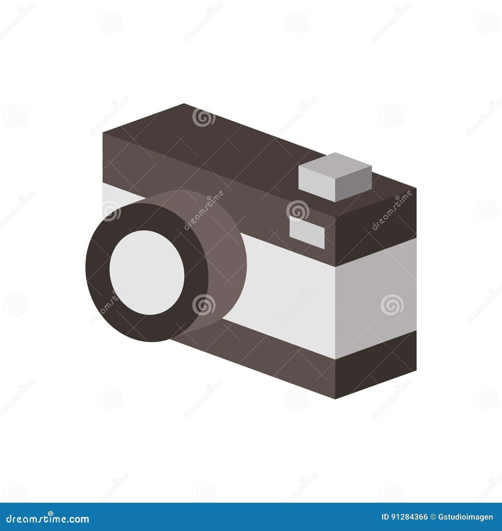 Fotografisk isolerad symbol för kamera