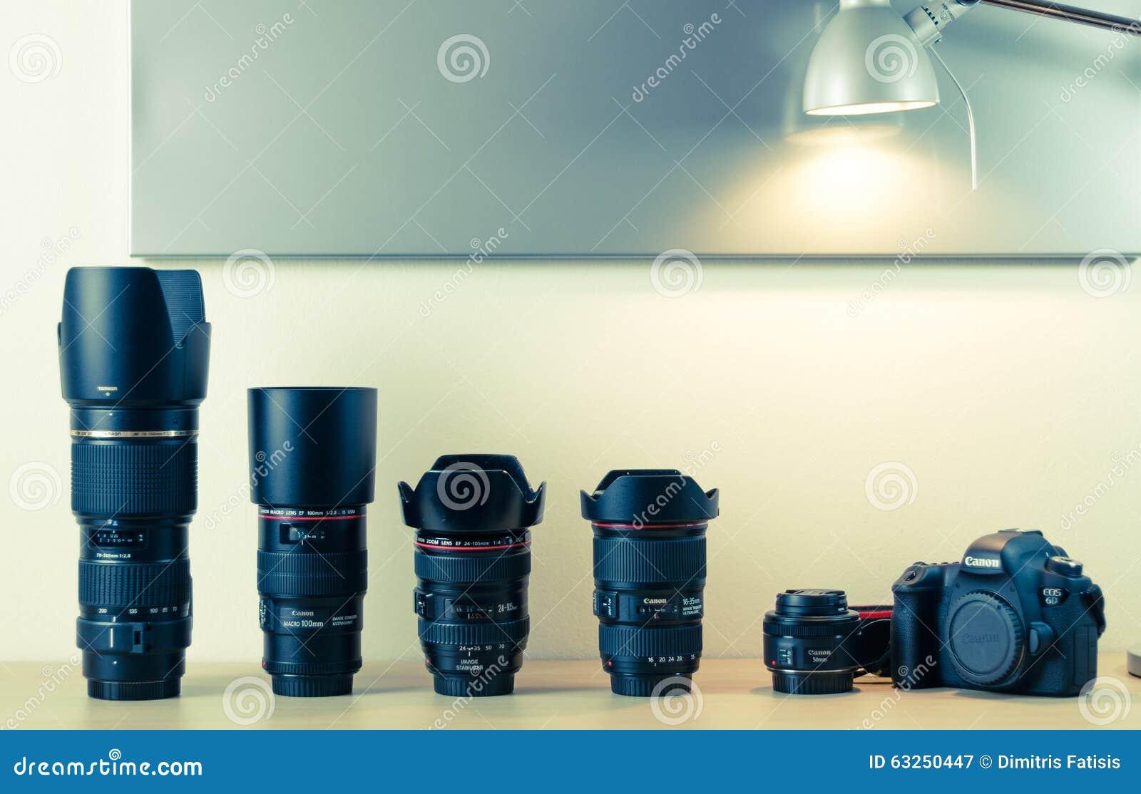 Fotografiutrustning - Canon EOS 6d och linser