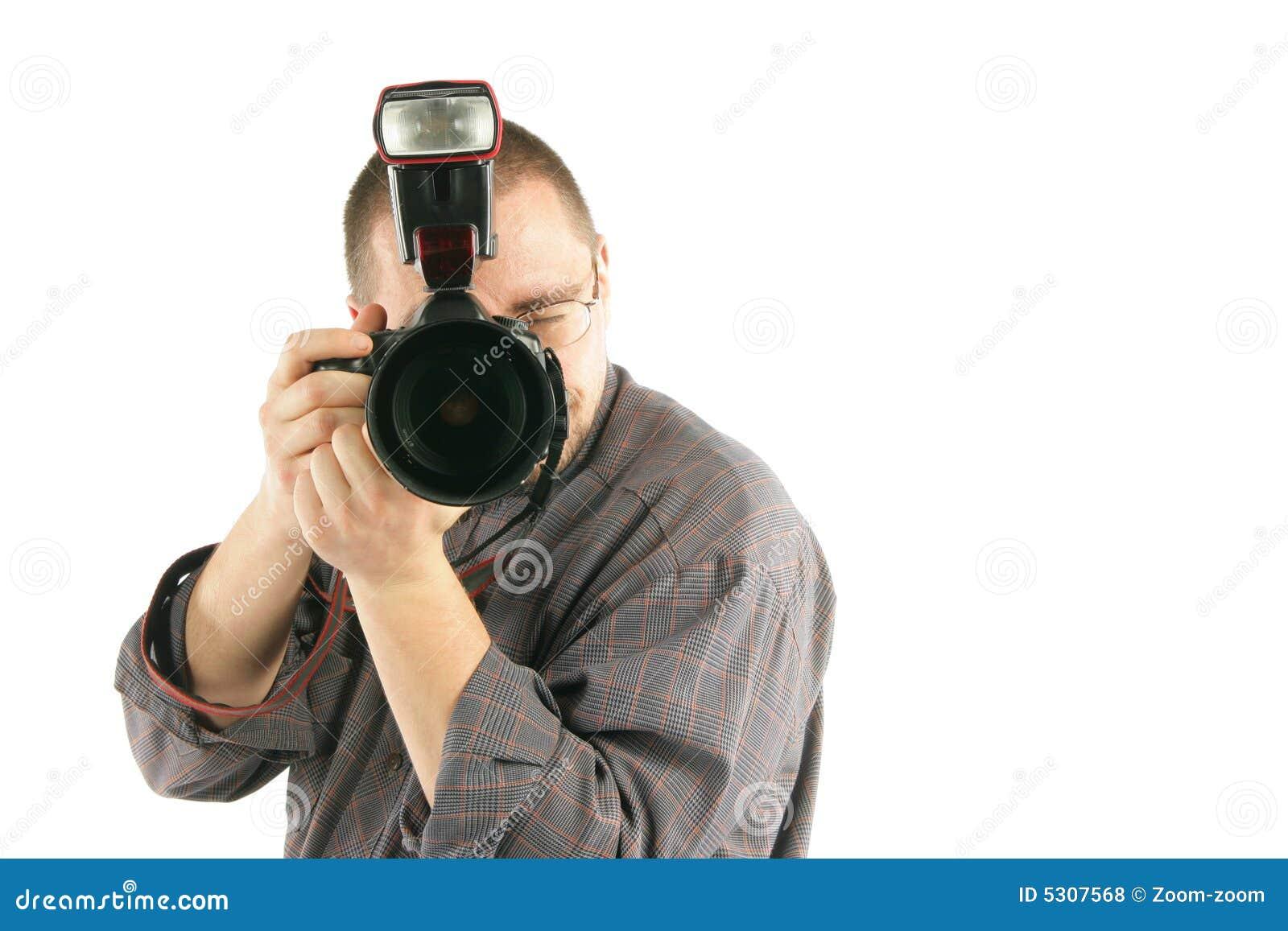 Download Fotografo che cattura foto fotografia stock. Immagine di foto - 5307568