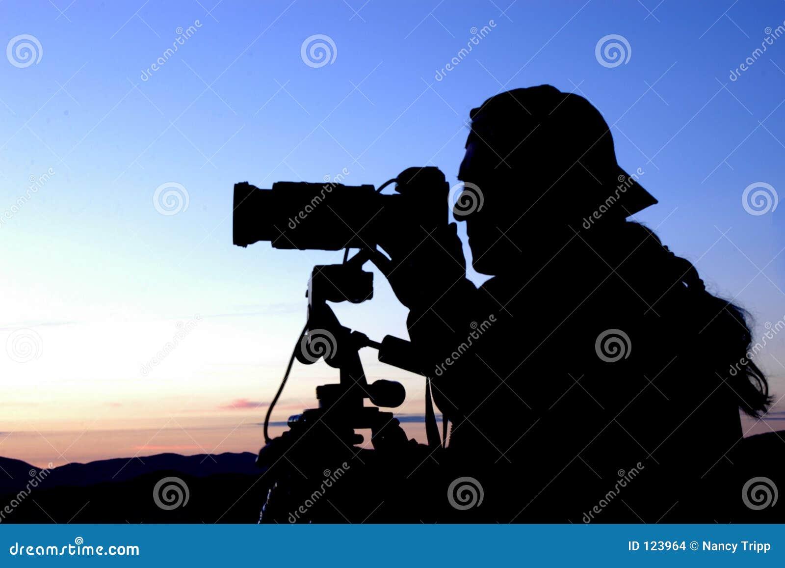Fotografo sul lavoro