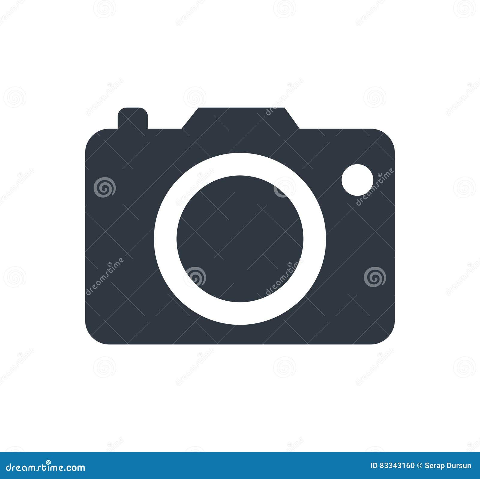 Fotokameratecken på en vit bakgrund