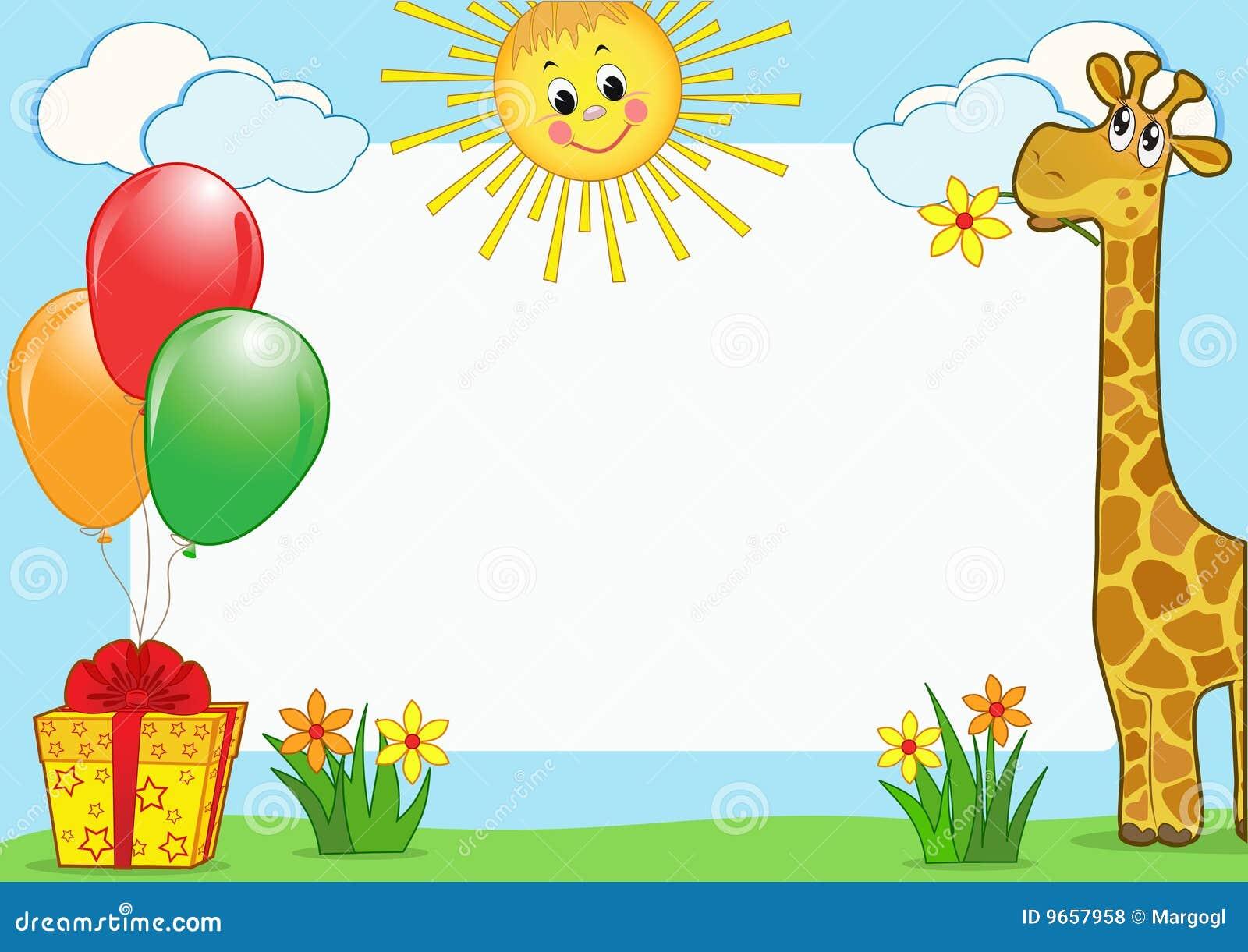 Fotorahmen der Kinder. vektor abbildung. Illustration von hell - 9657958