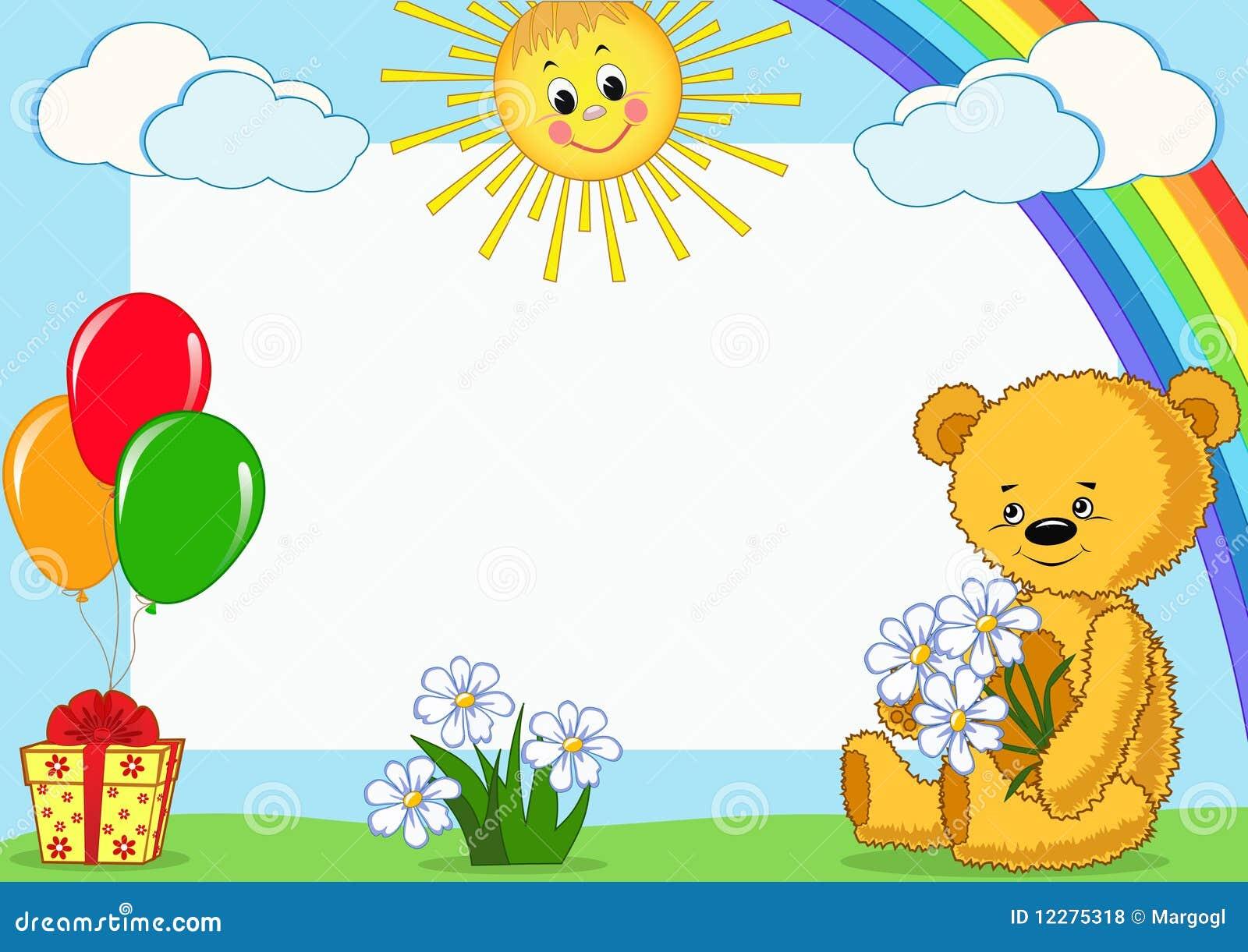 Fotorahmen Der Kinder. Bär. Vektor Abbildung - Illustration von bär ...