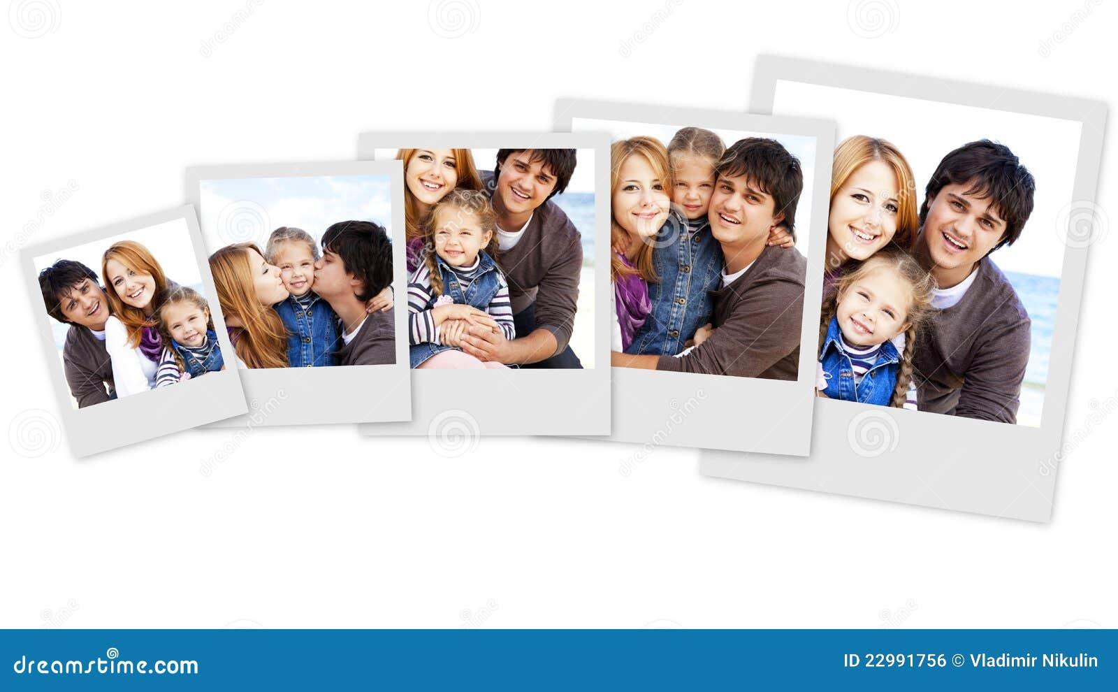 Fotos da colagem da família nova