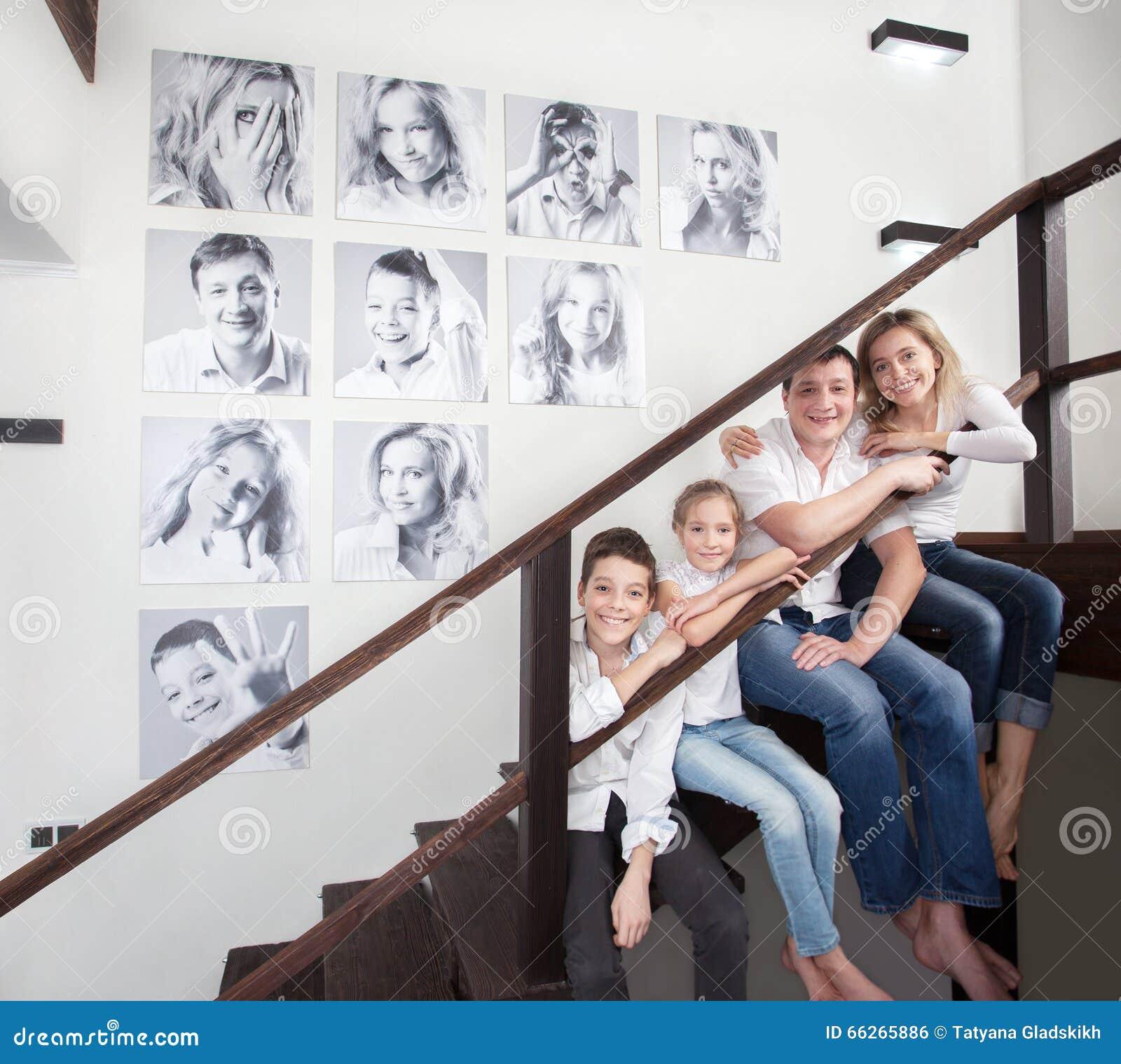 Fotos de familia en la pared