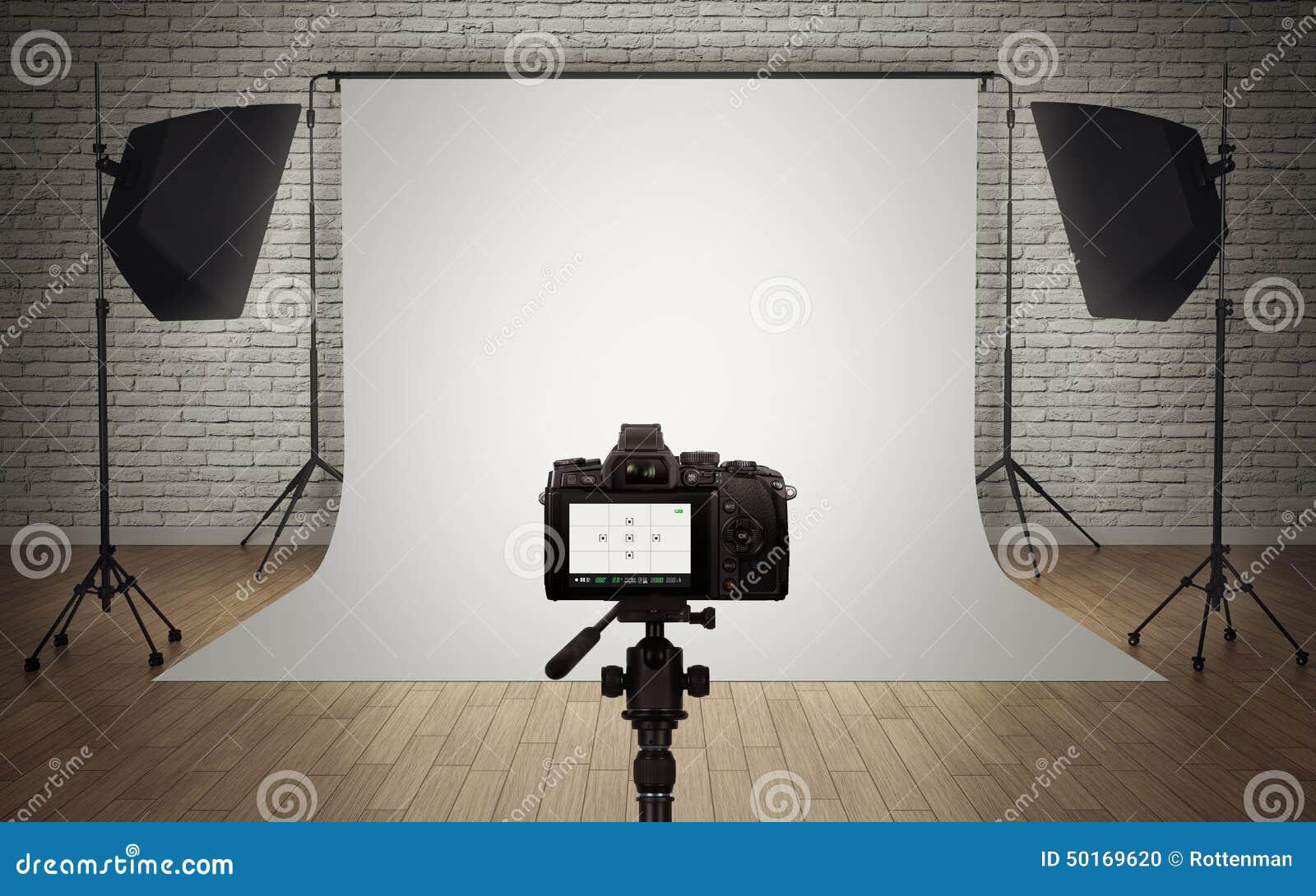 Fotostudio Lichteinrichtung Stock Abbildung Bild 50169620