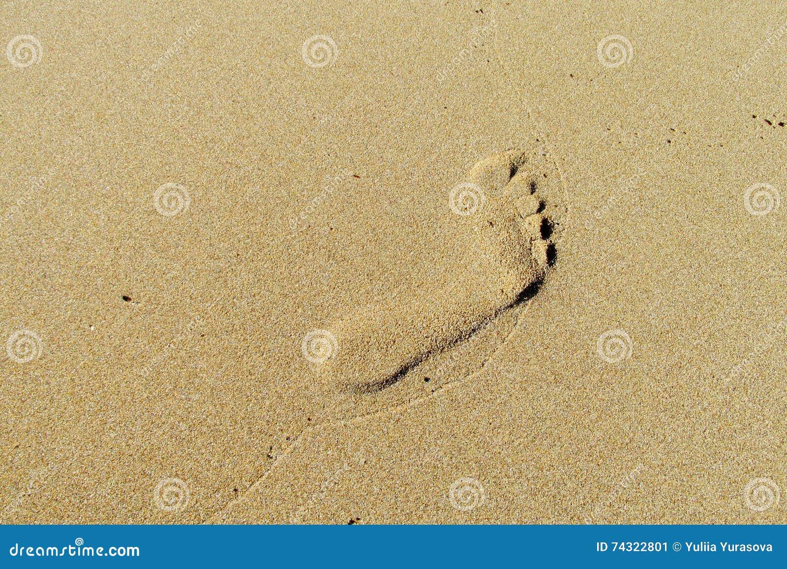 Fottryck på sand