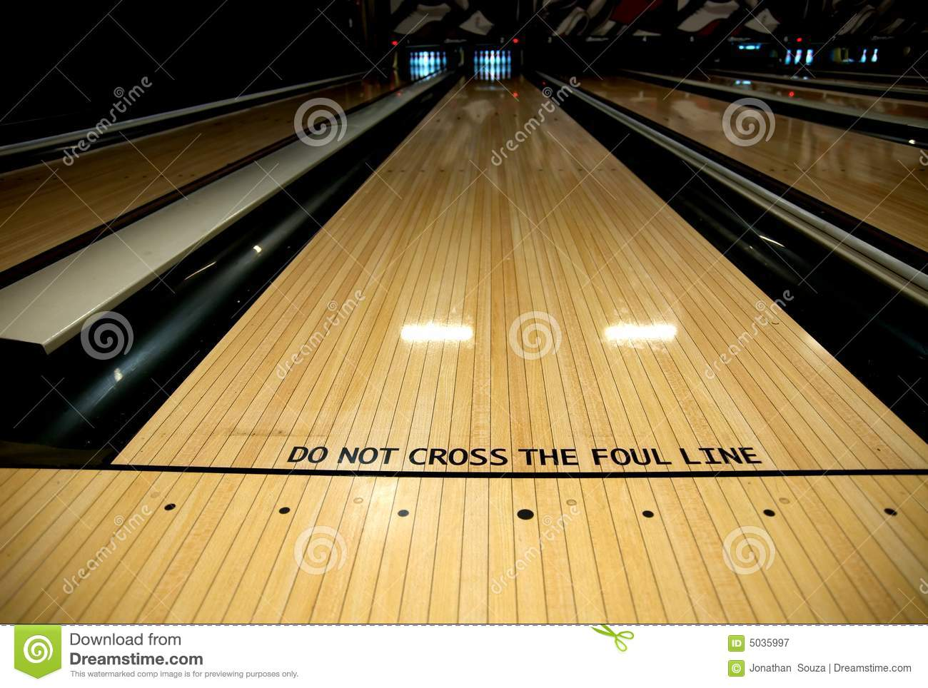 Foul Line At Bowling Alley Royalty Free Stock Photography Image 5035997