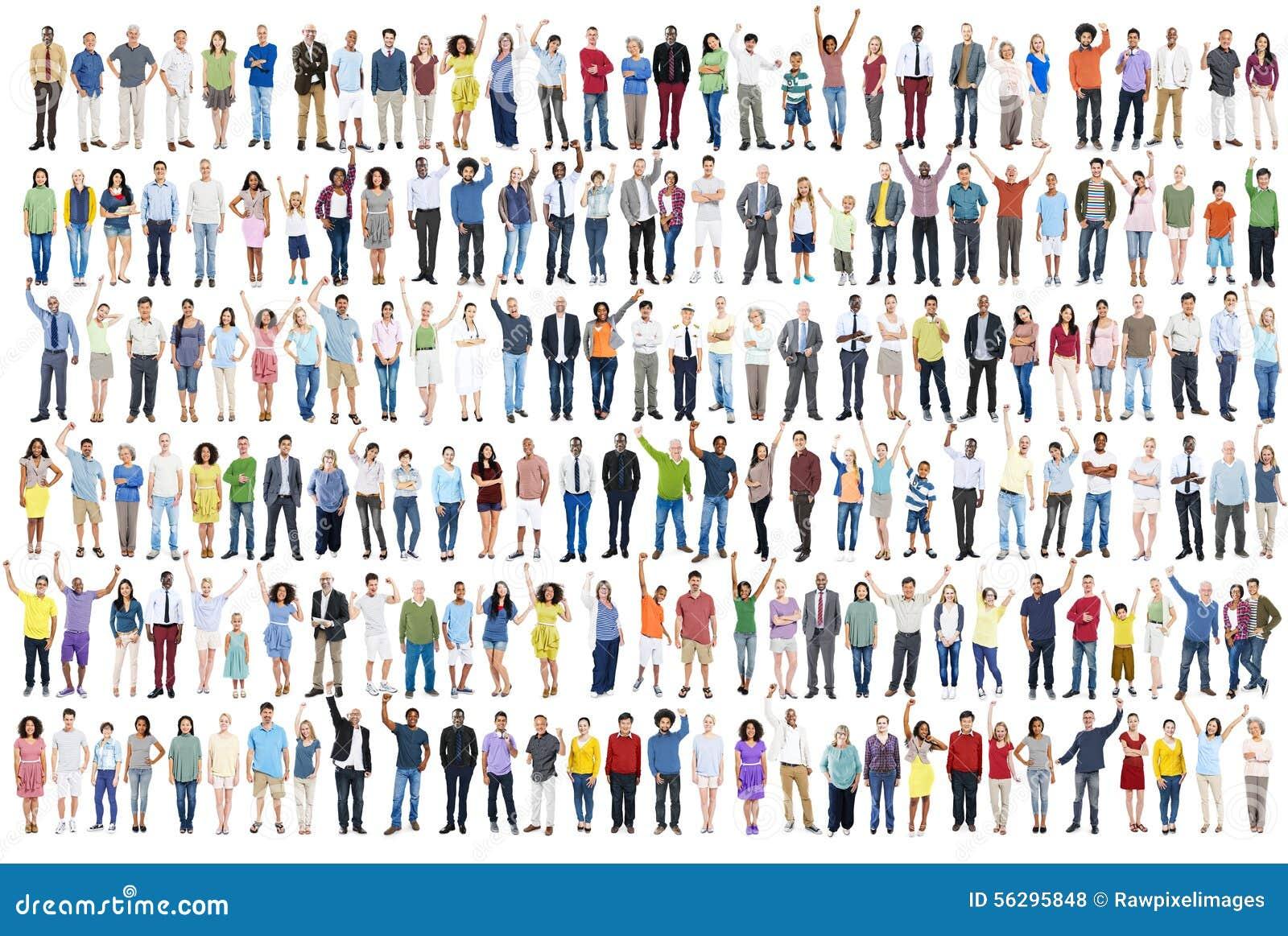 Foule C de la Communauté de bonheur de célébration de succès de diversité de personnes