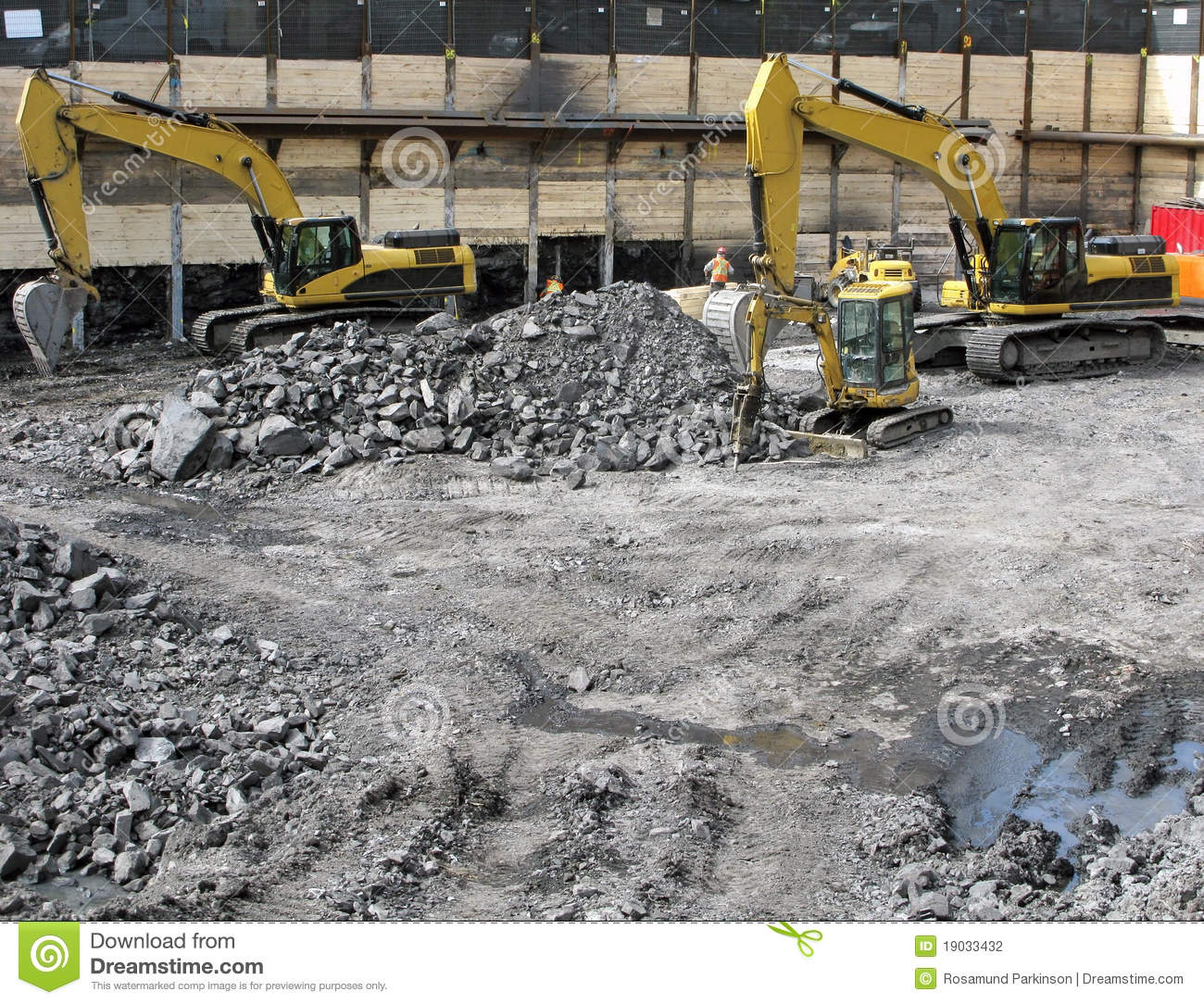 Foundation construction stock photography image 19033432 for Digging foundation for house
